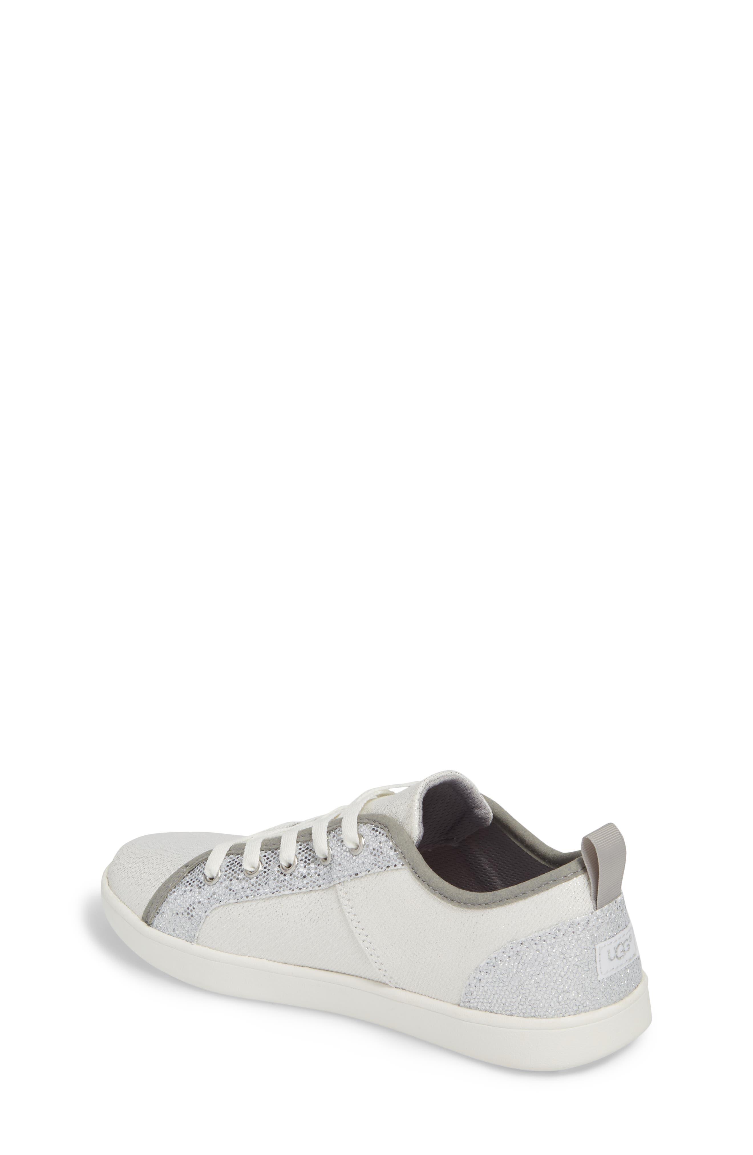Irvin Sparkles Metallic Sneaker,                             Alternate thumbnail 2, color,                             Silver
