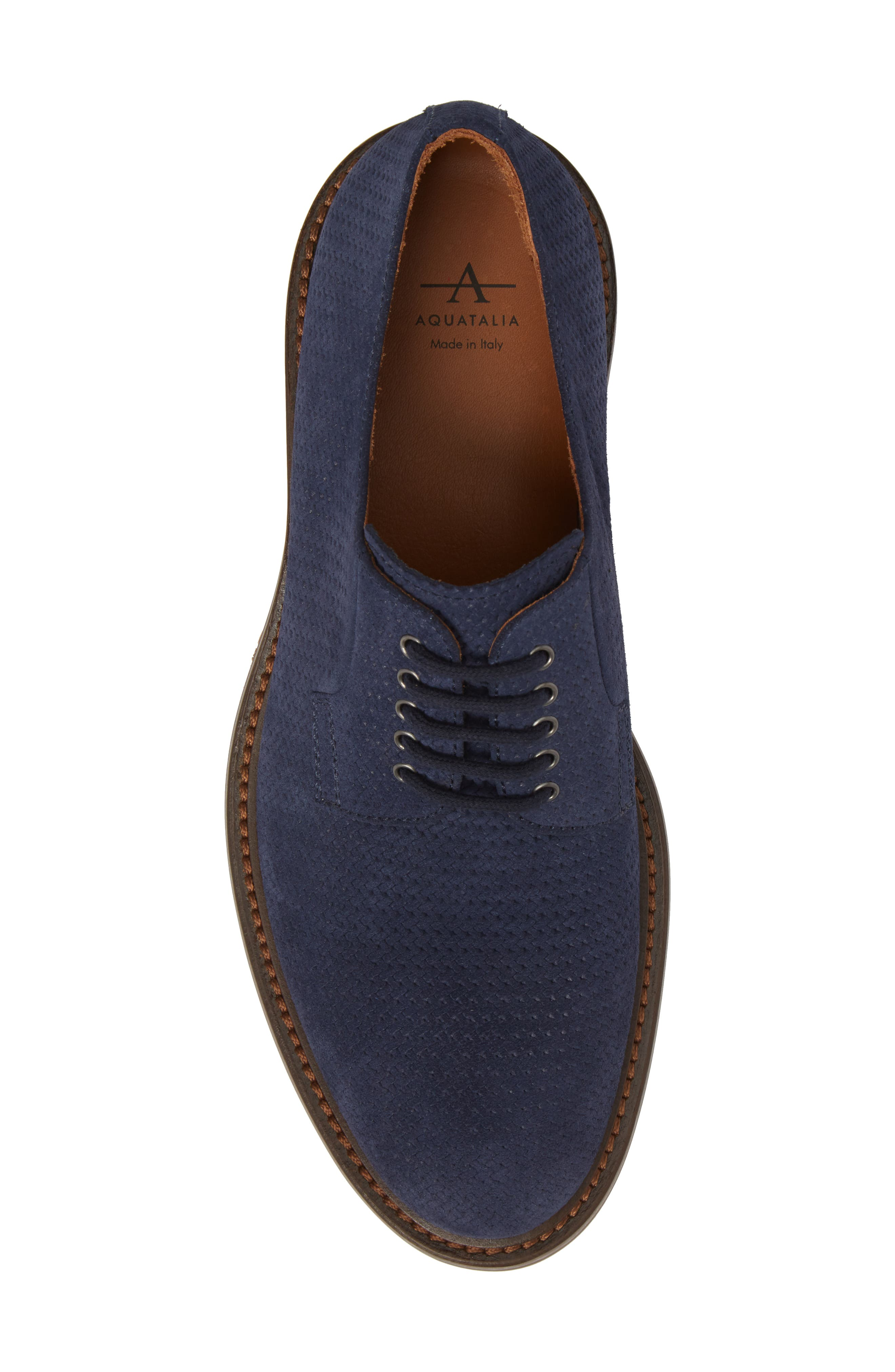 Roberto Embossed Weatherproof Oxford,                             Alternate thumbnail 5, color,                             Navy