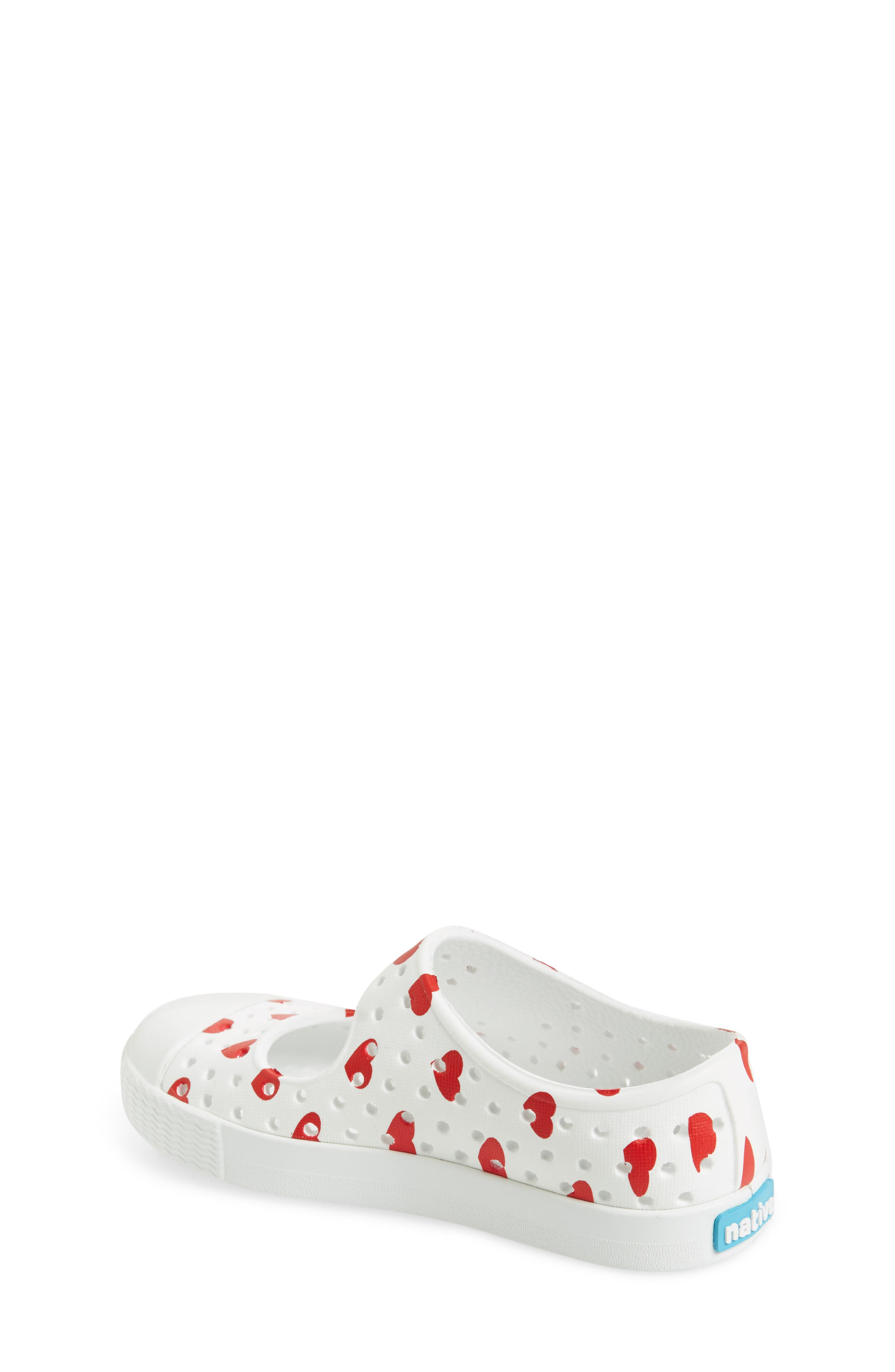 Native Juniper Print Perforated Mary Jane,                             Alternate thumbnail 2, color,                             Shell White/ Torch Blue Heart