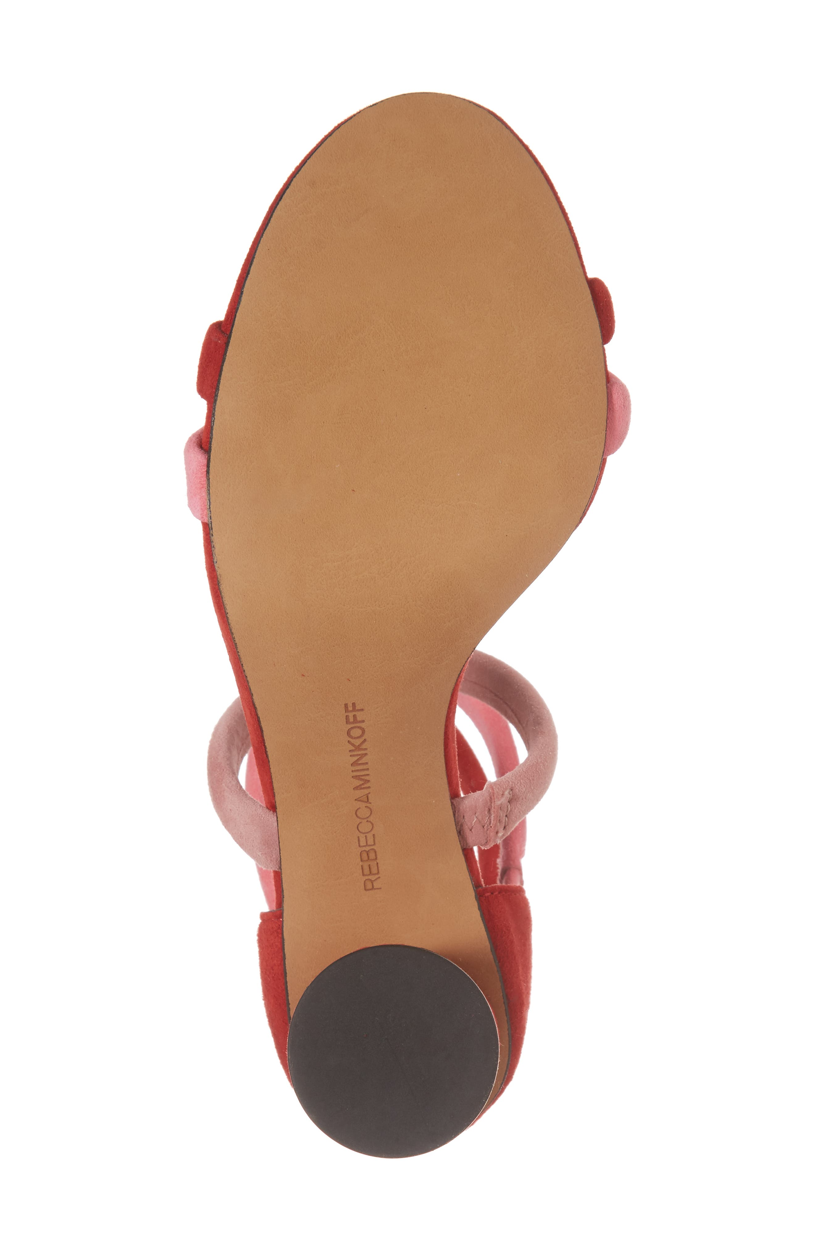 Andree Sandal,                             Alternate thumbnail 6, color,                             Cherry Suede