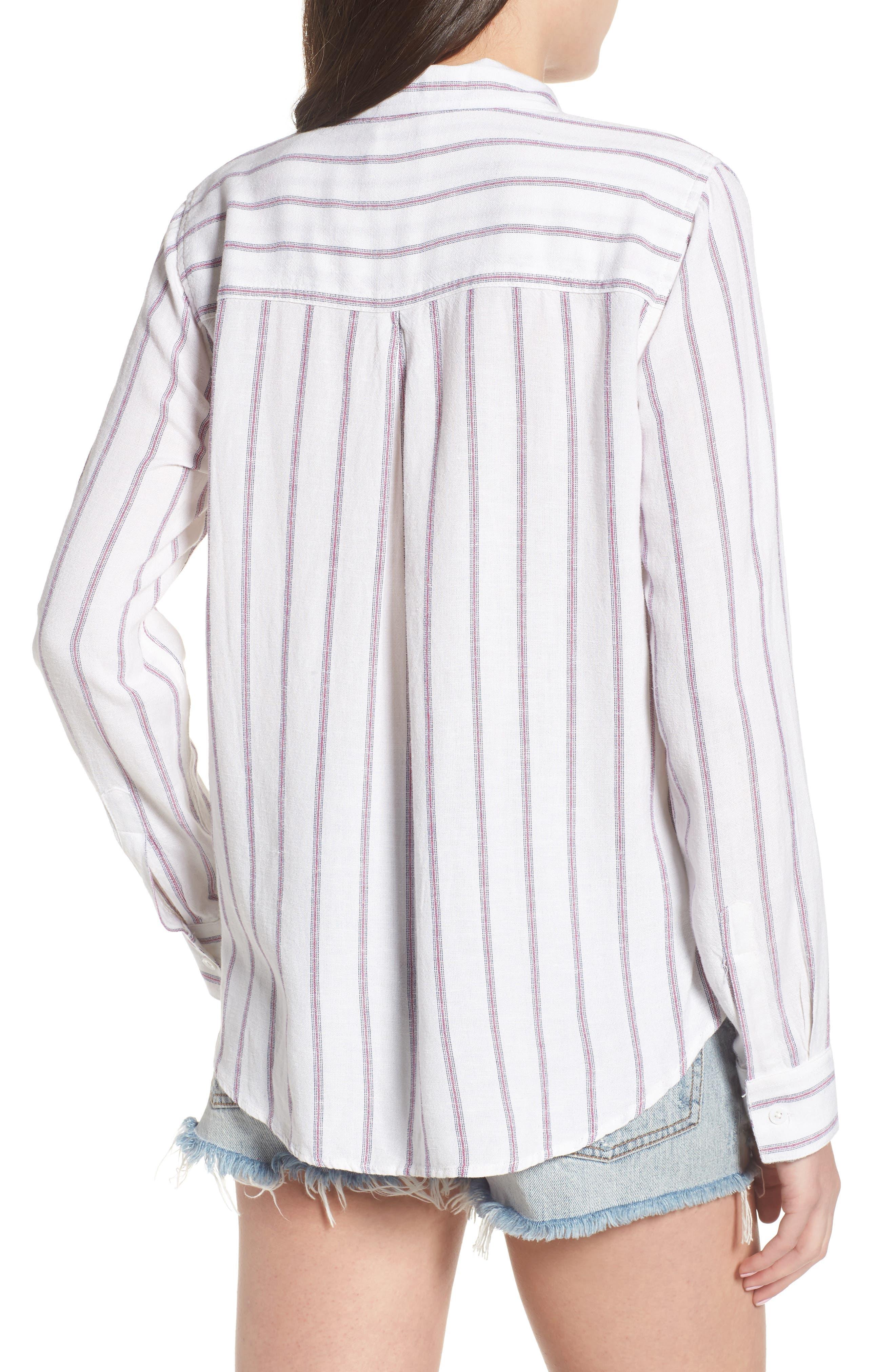 Rose Stripe Shirt,                             Alternate thumbnail 2, color,                             Red Stripe