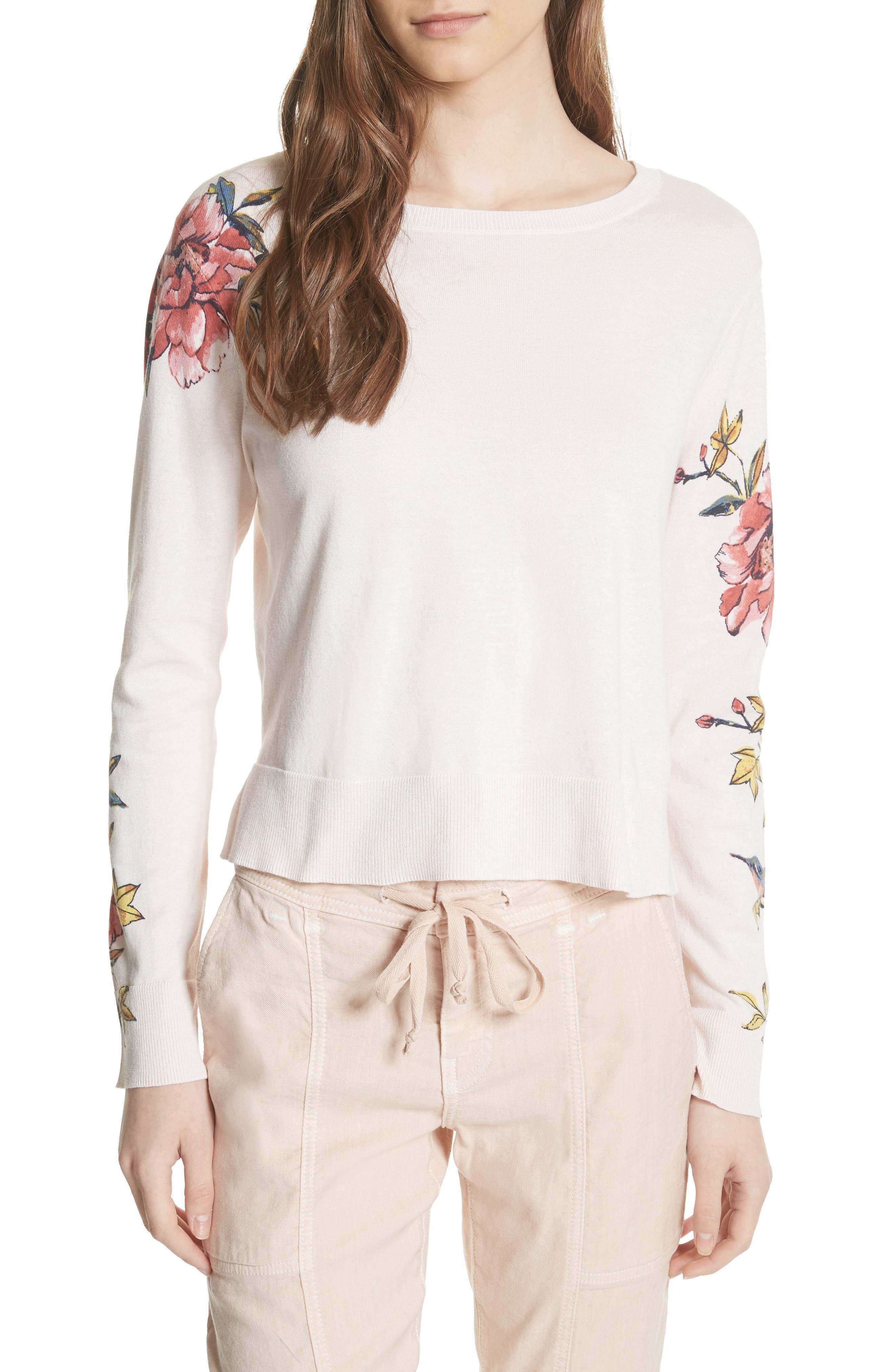 Paari Silk & Cashmere Sweater,                             Main thumbnail 1, color,                             Rosewater