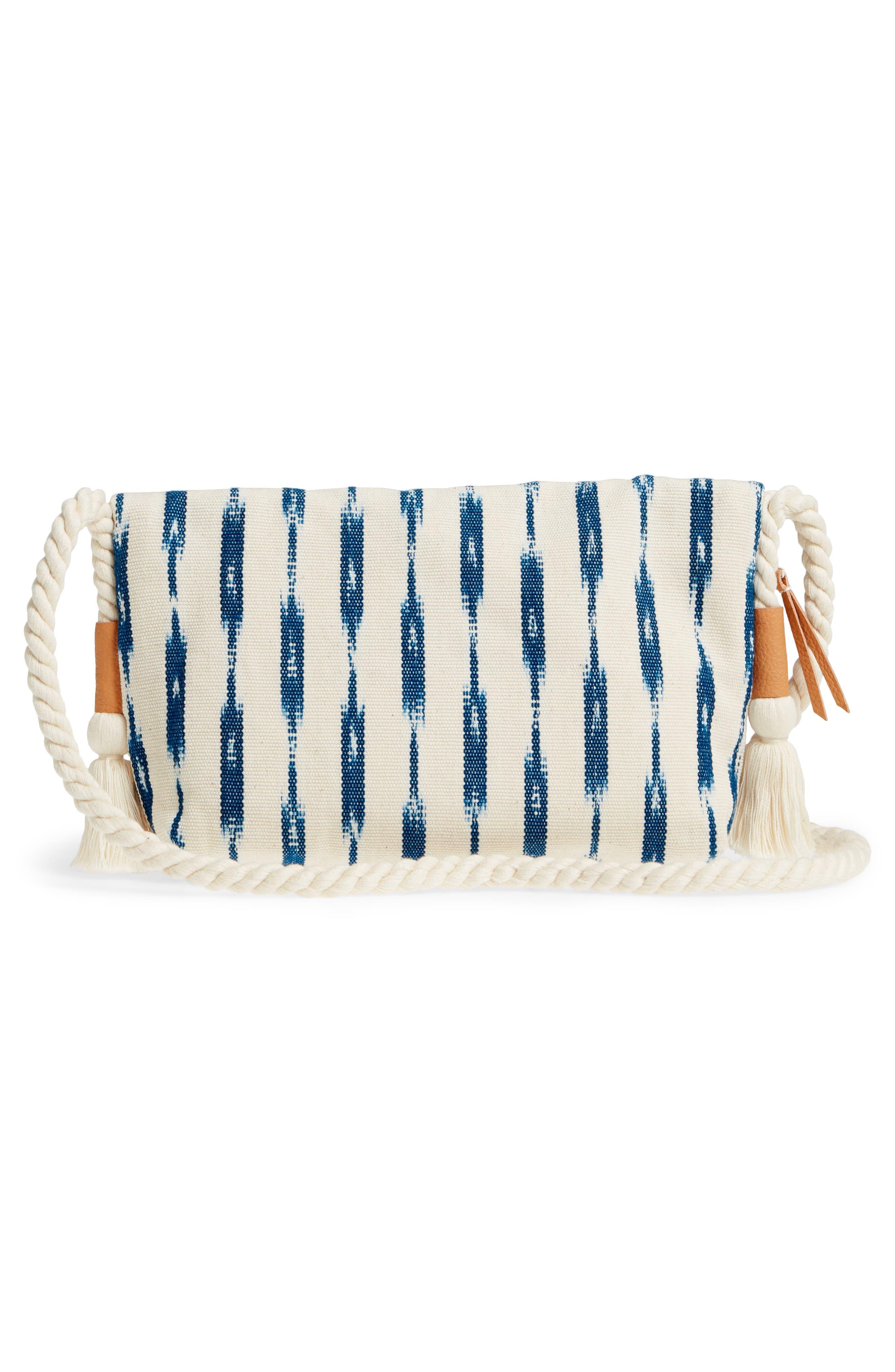 Sandrita Shoulder Bag,                             Alternate thumbnail 3, color,                             Indigo Jaspe