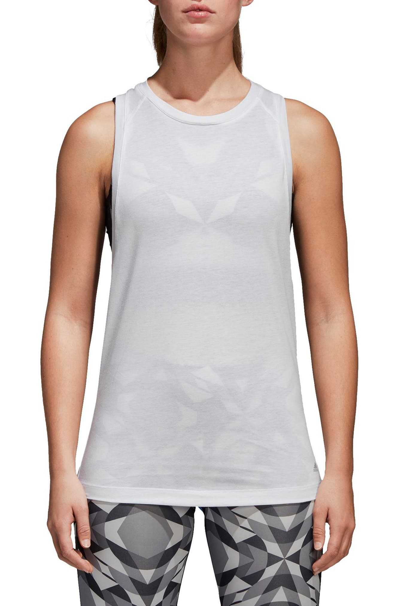 Wanderlust Parley Tank,                             Main thumbnail 1, color,                             White