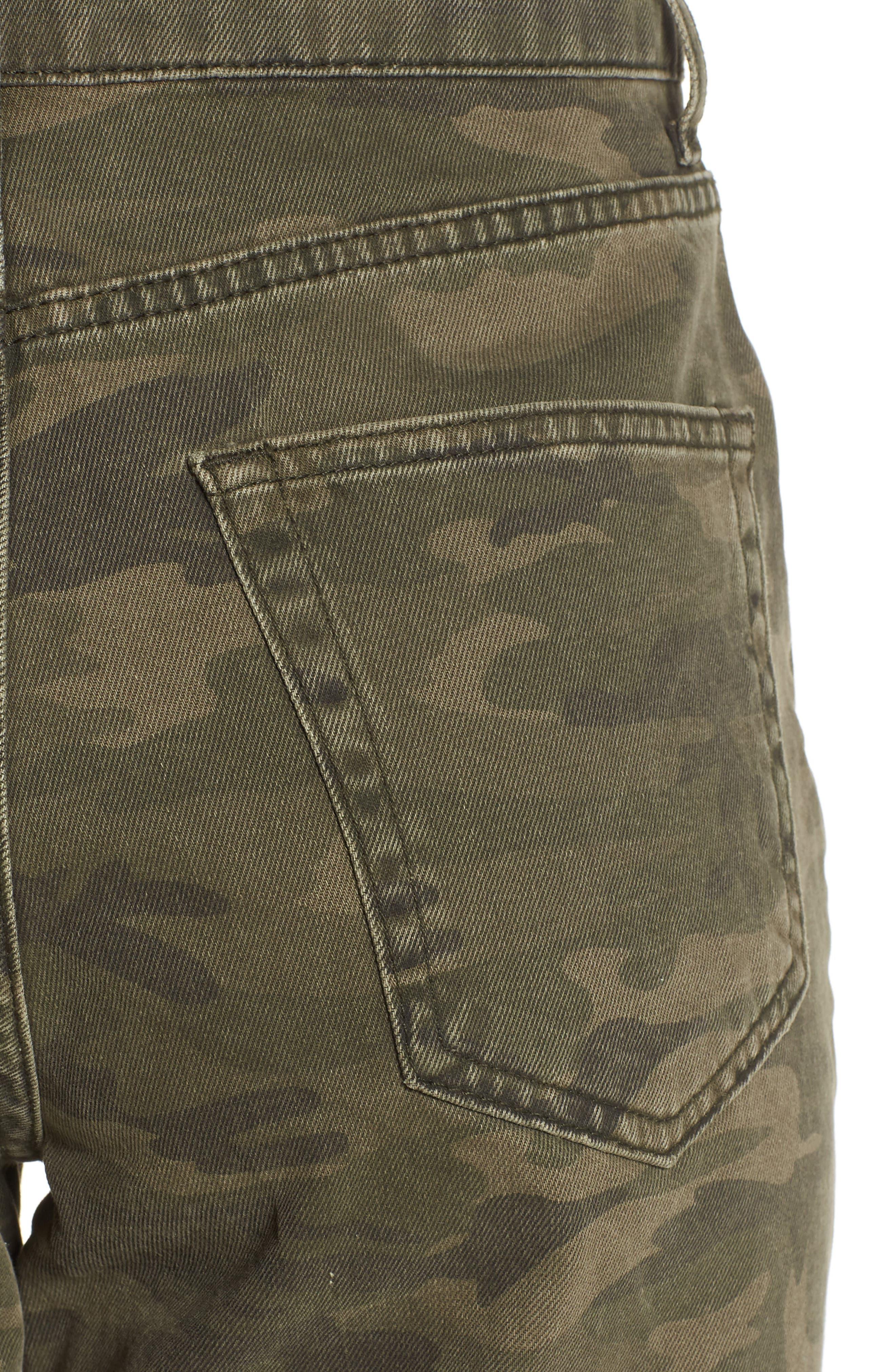 Camo Wide Leg Trousers,                             Alternate thumbnail 4, color,                             Olive