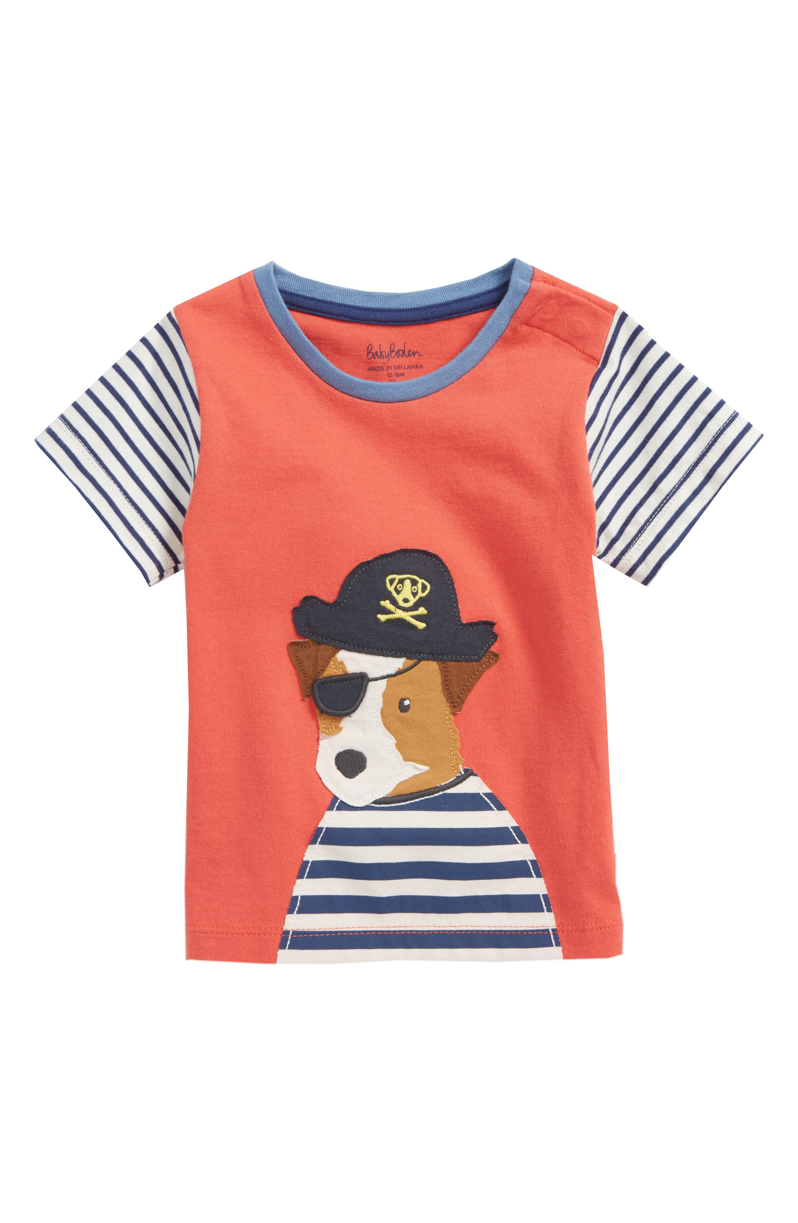 Big Appliqué T-Shirt,                         Main,                         color, Crayon Red