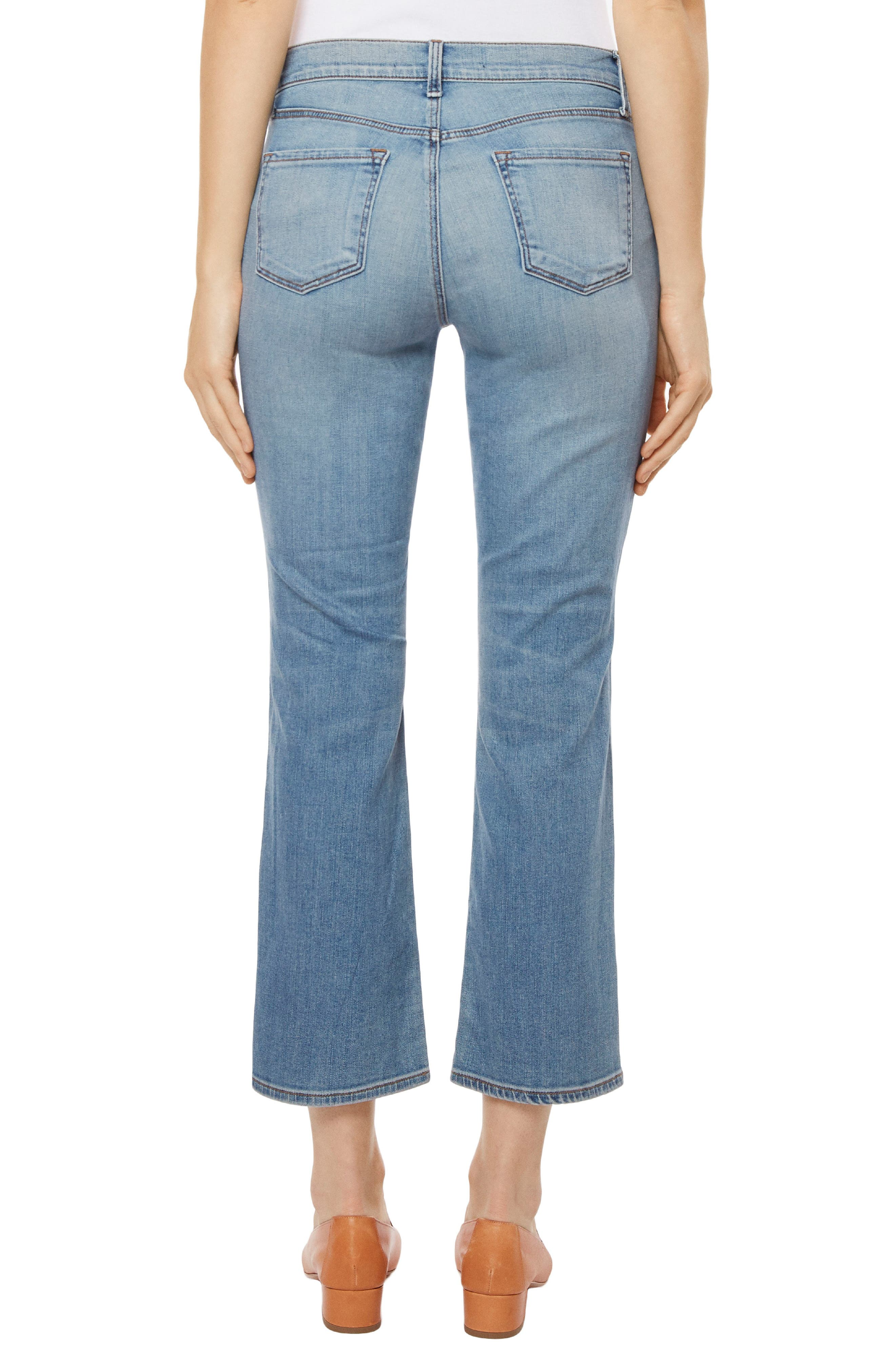 Selena Crop Bootcut Jeans,                             Alternate thumbnail 2, color,                             Balearic