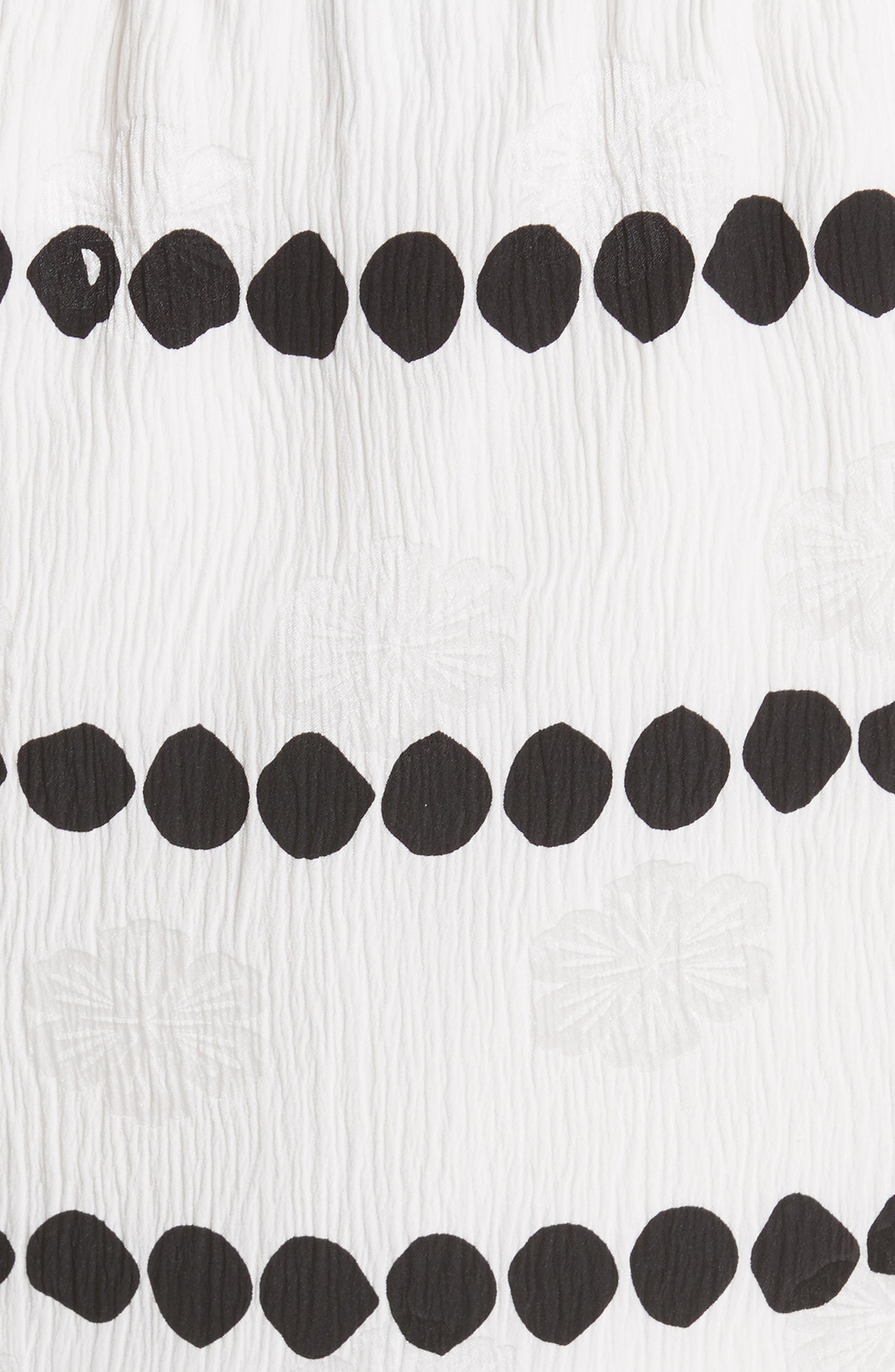 Off the Shoulder Polka Dot Top,                             Alternate thumbnail 5, color,                             Soft White