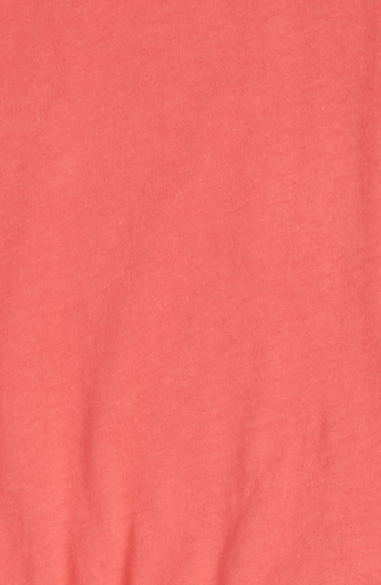 Cold Shoulder Top & Leggings Set,                             Alternate thumbnail 2, color,                             Coral Fan