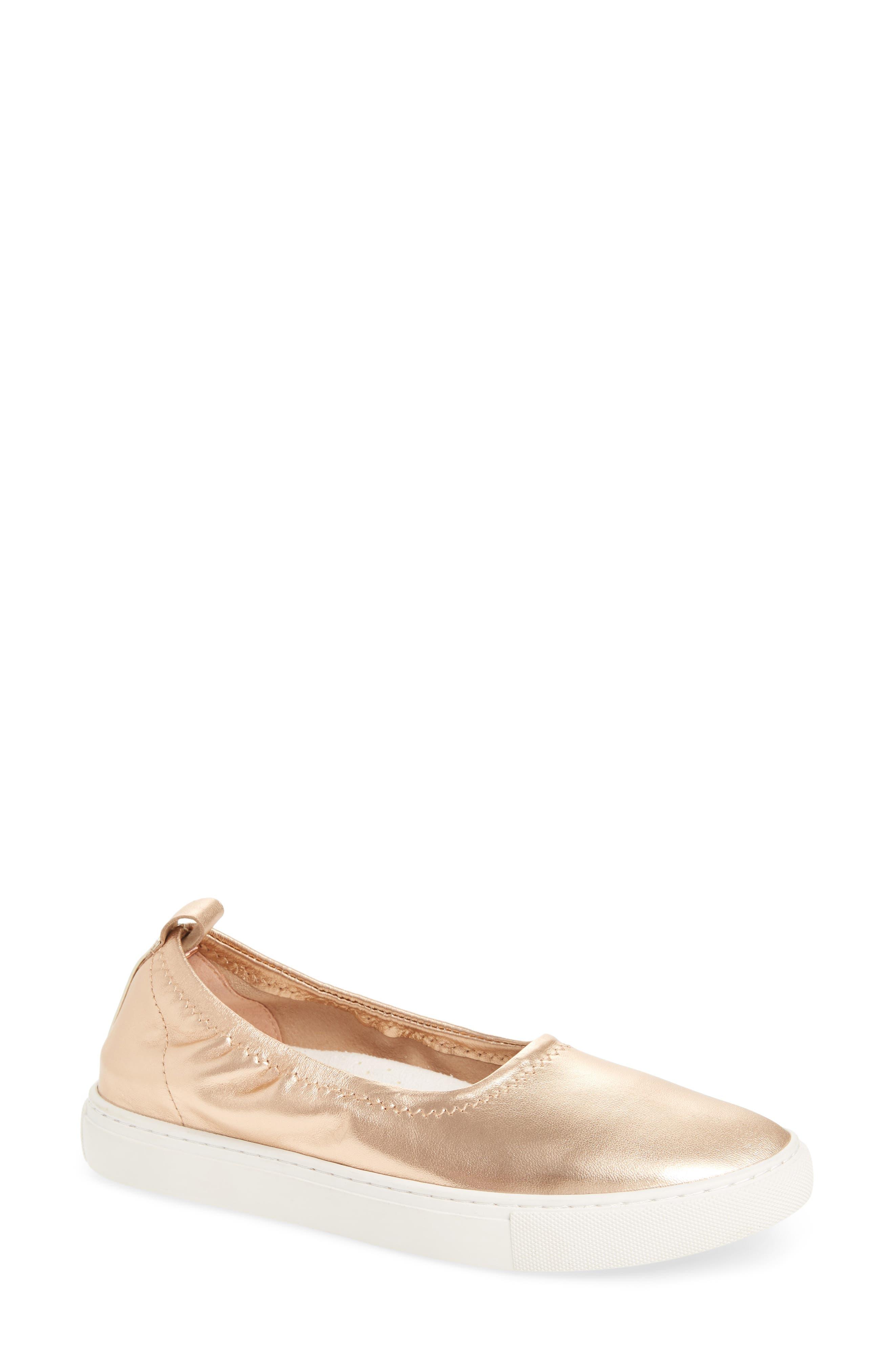 Kam Techni-Cole Ballet Flat,                             Main thumbnail 1, color,                             Rose Gold Leather