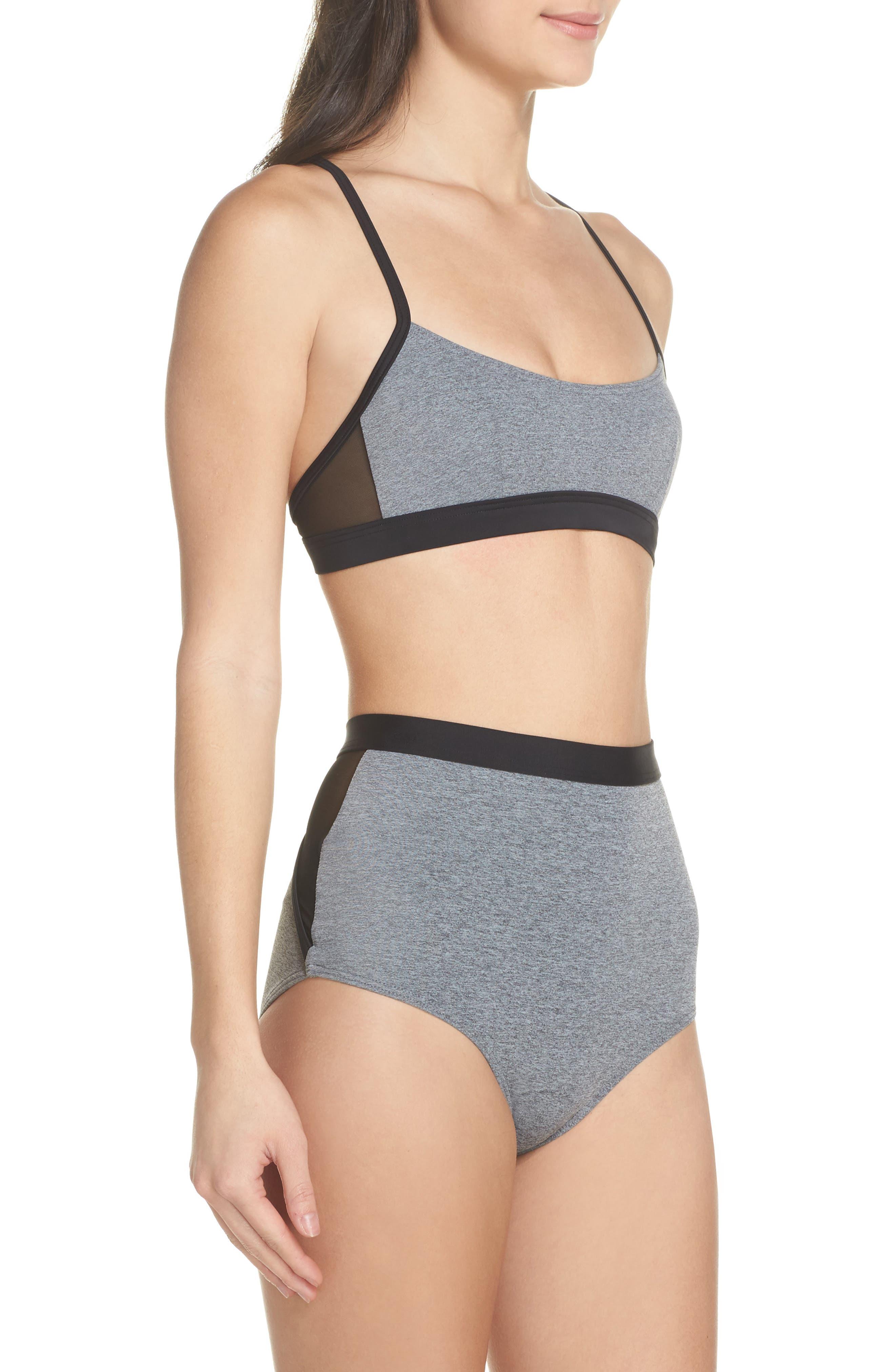 Alva Bikini Top,                             Alternate thumbnail 8, color,                             Heather Grey