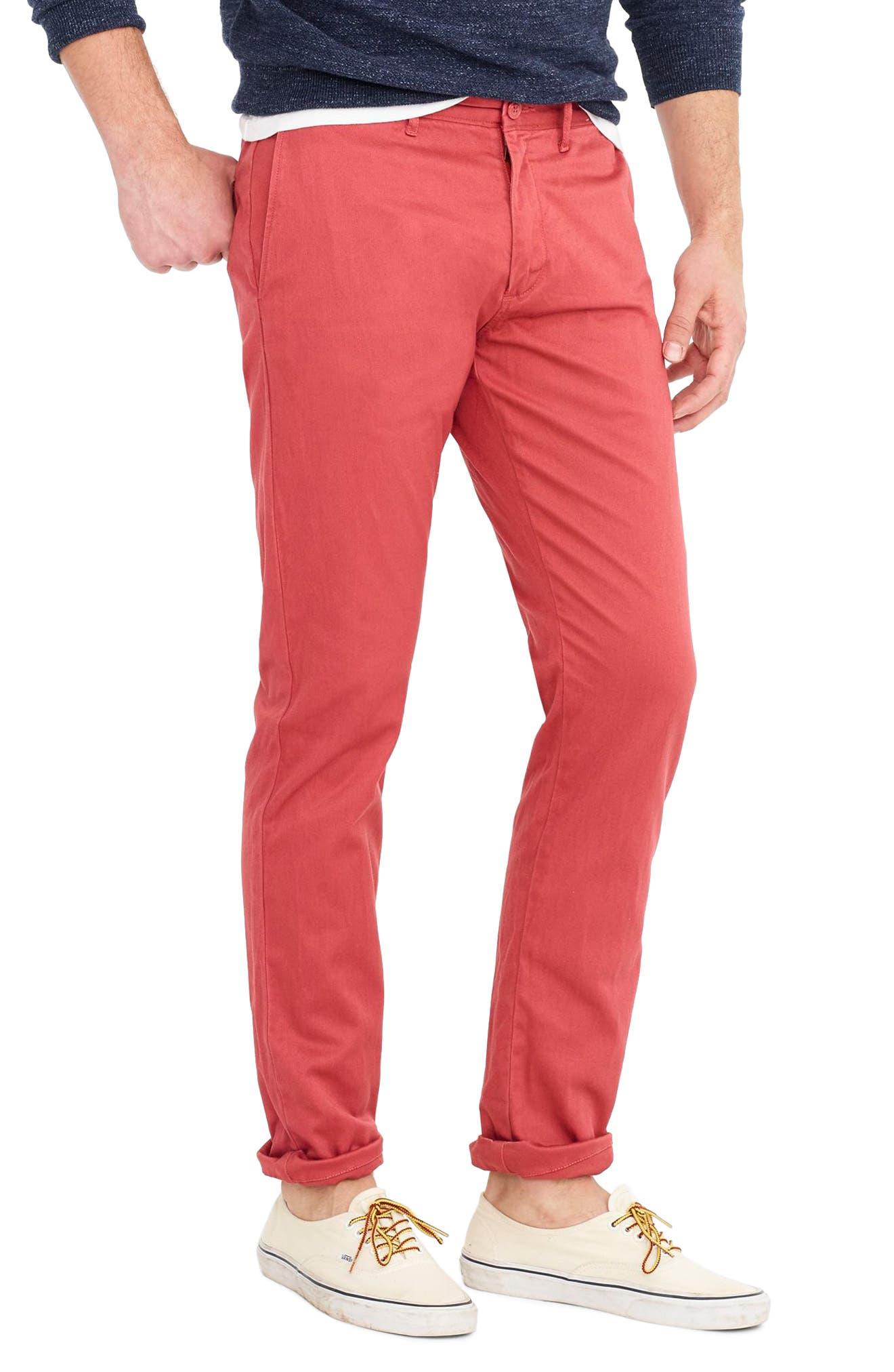 Alternate Image 3  - J.Crew 484 Slim Fit Stretch Chino Pants
