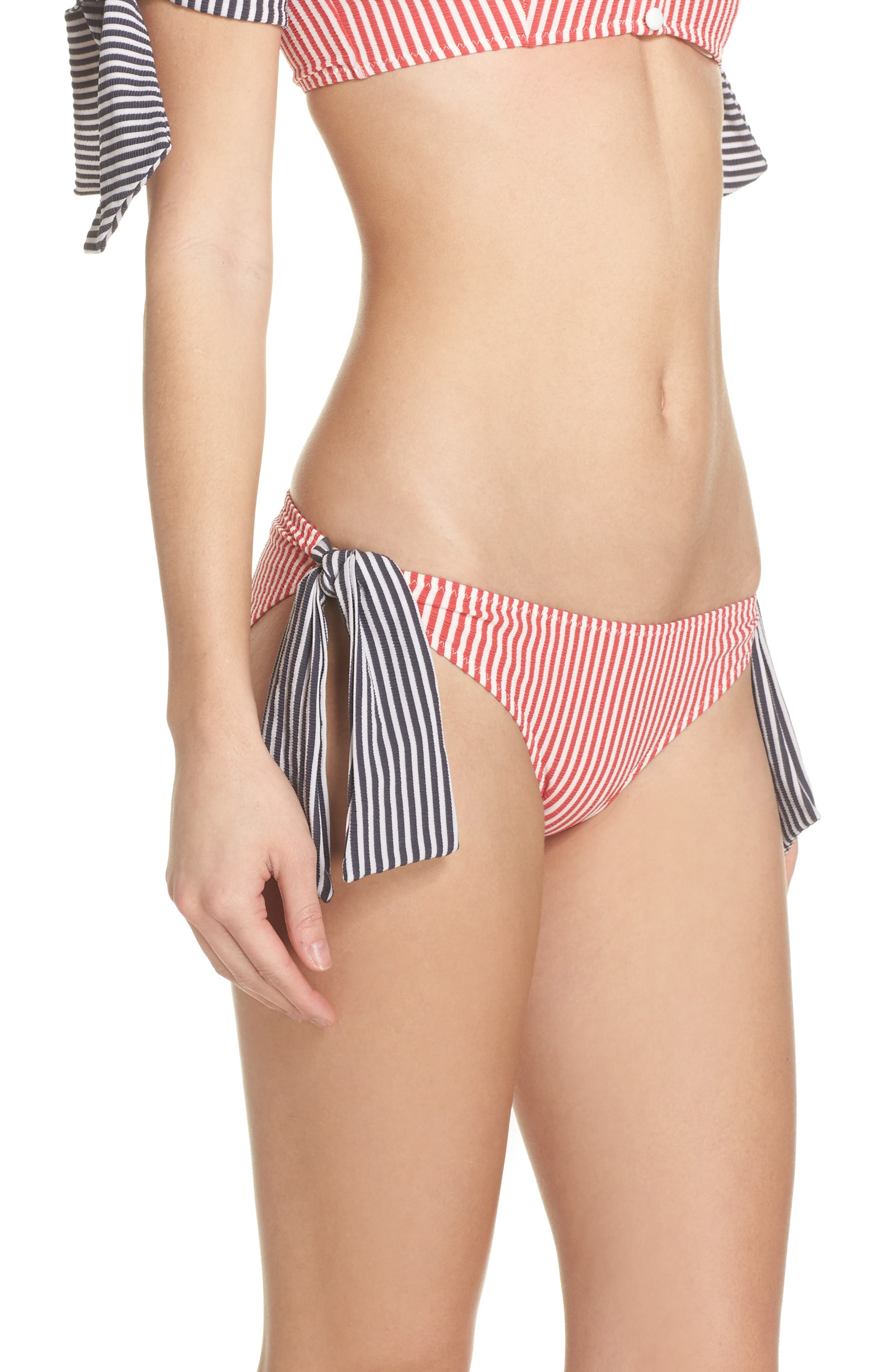The Mackenzie Bikini Bottoms,                             Alternate thumbnail 3, color,                             Red