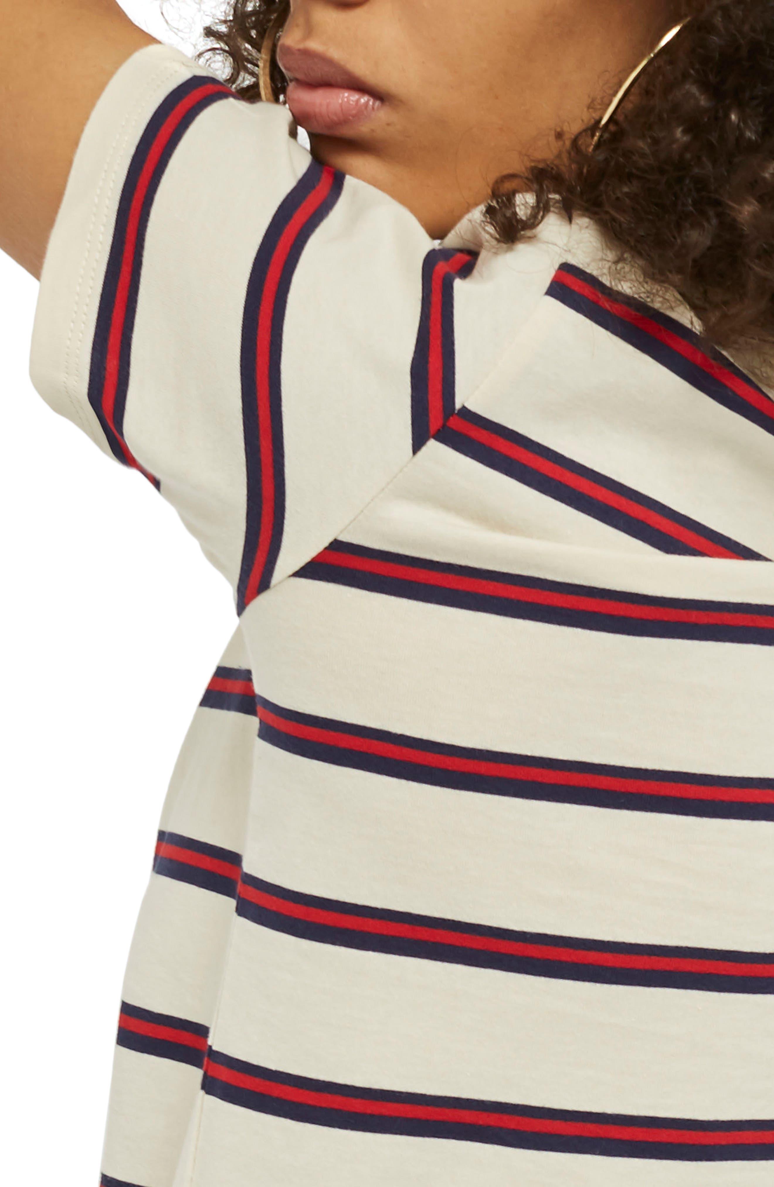 Stripe Tee,                             Alternate thumbnail 2, color,                             Cream Multi