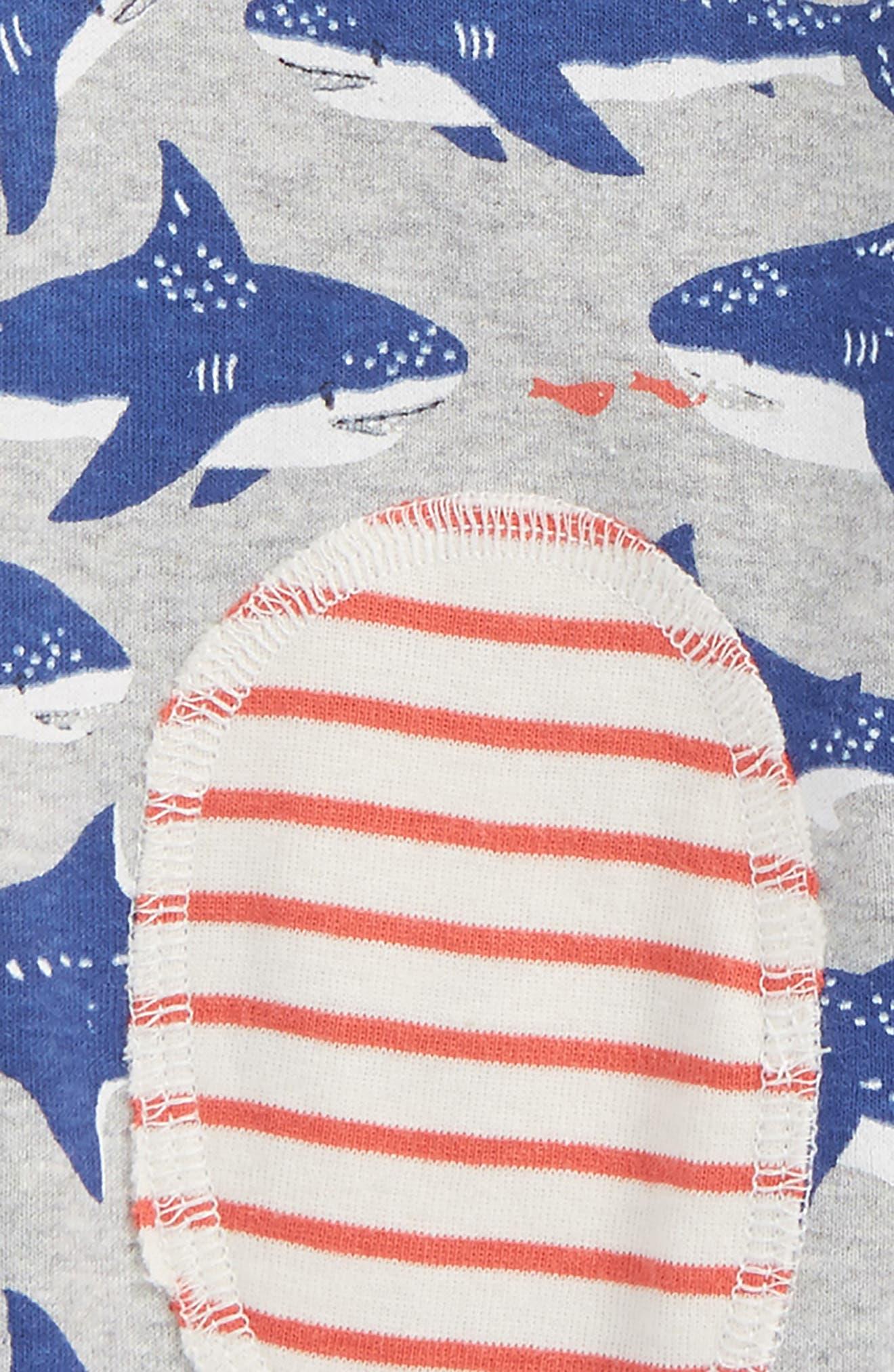 Reversible Knee Patch Pants,                             Alternate thumbnail 3, color,                             Grey Marl Sharks
