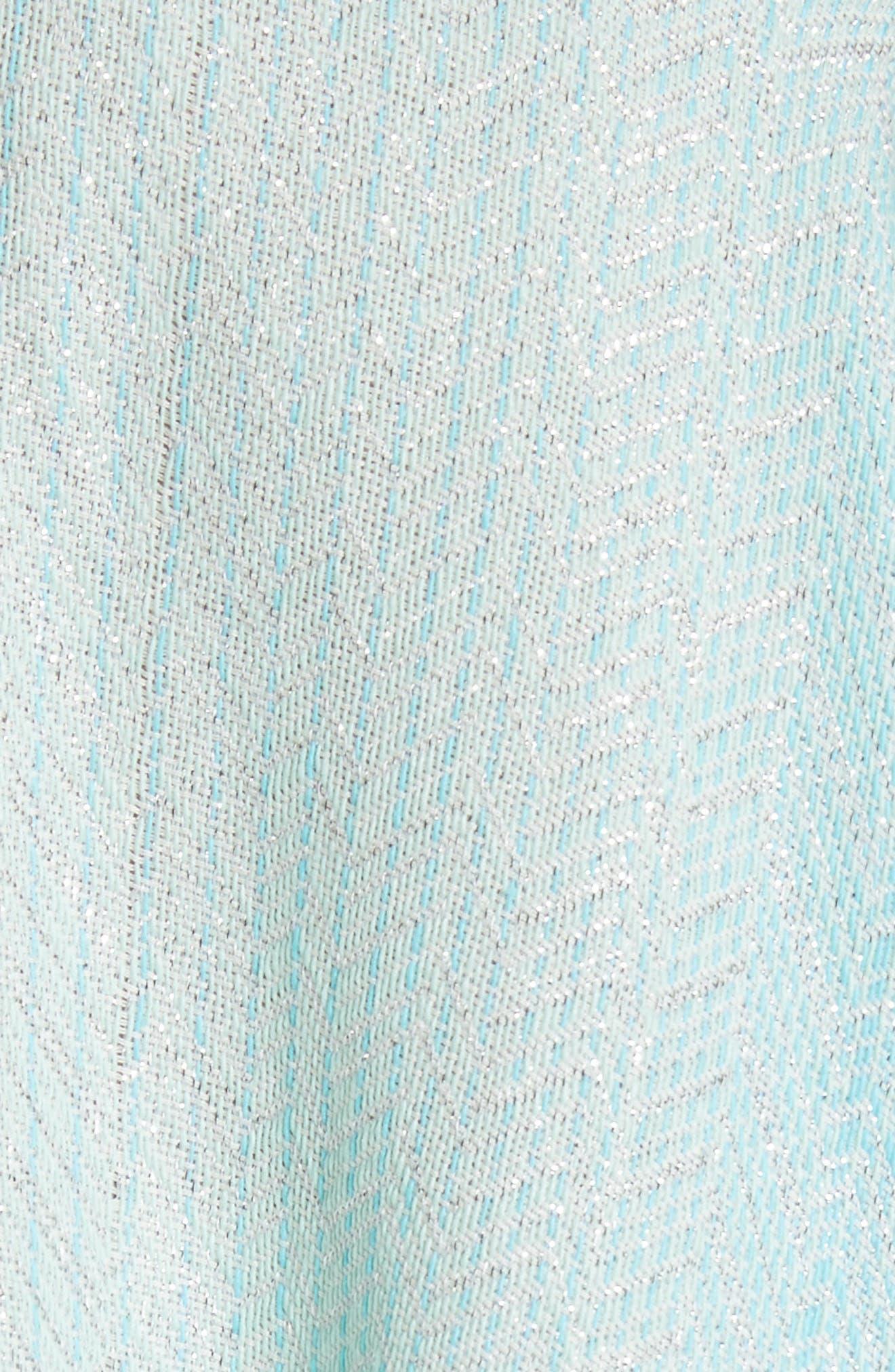 Zigzag Cape,                             Alternate thumbnail 5, color,                             Blue