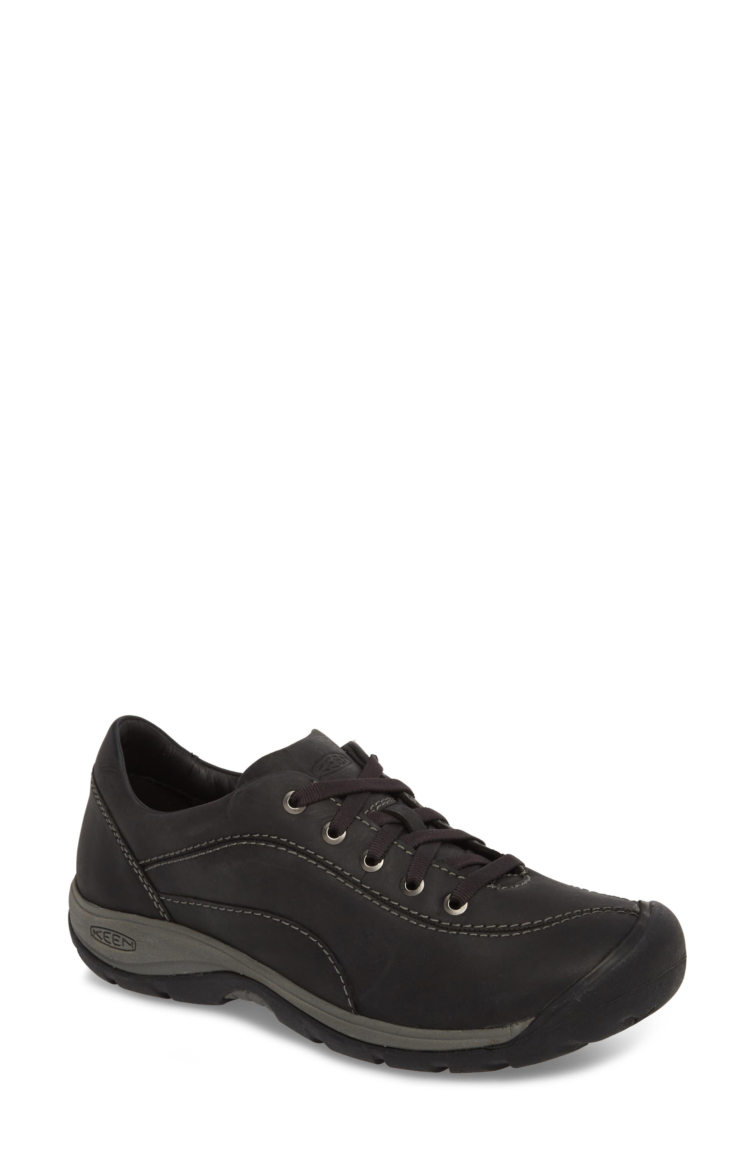 Presidio II Sneaker,                             Main thumbnail 1, color,                             Black/ Steel Grey Leather