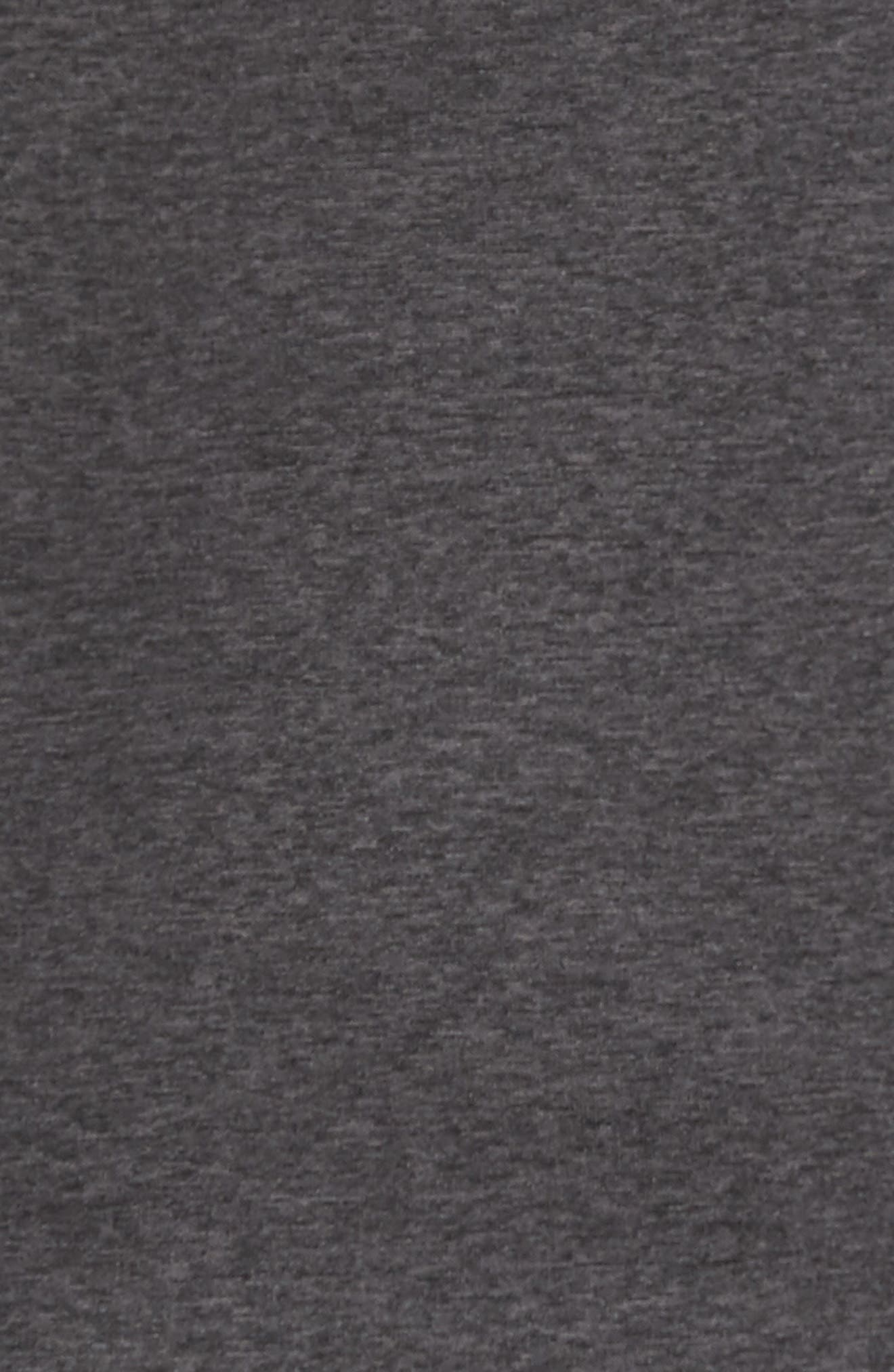 Shep Performance Fleece Quarter Zip Pullover,                             Alternate thumbnail 5, color,                             Charcoal Heather