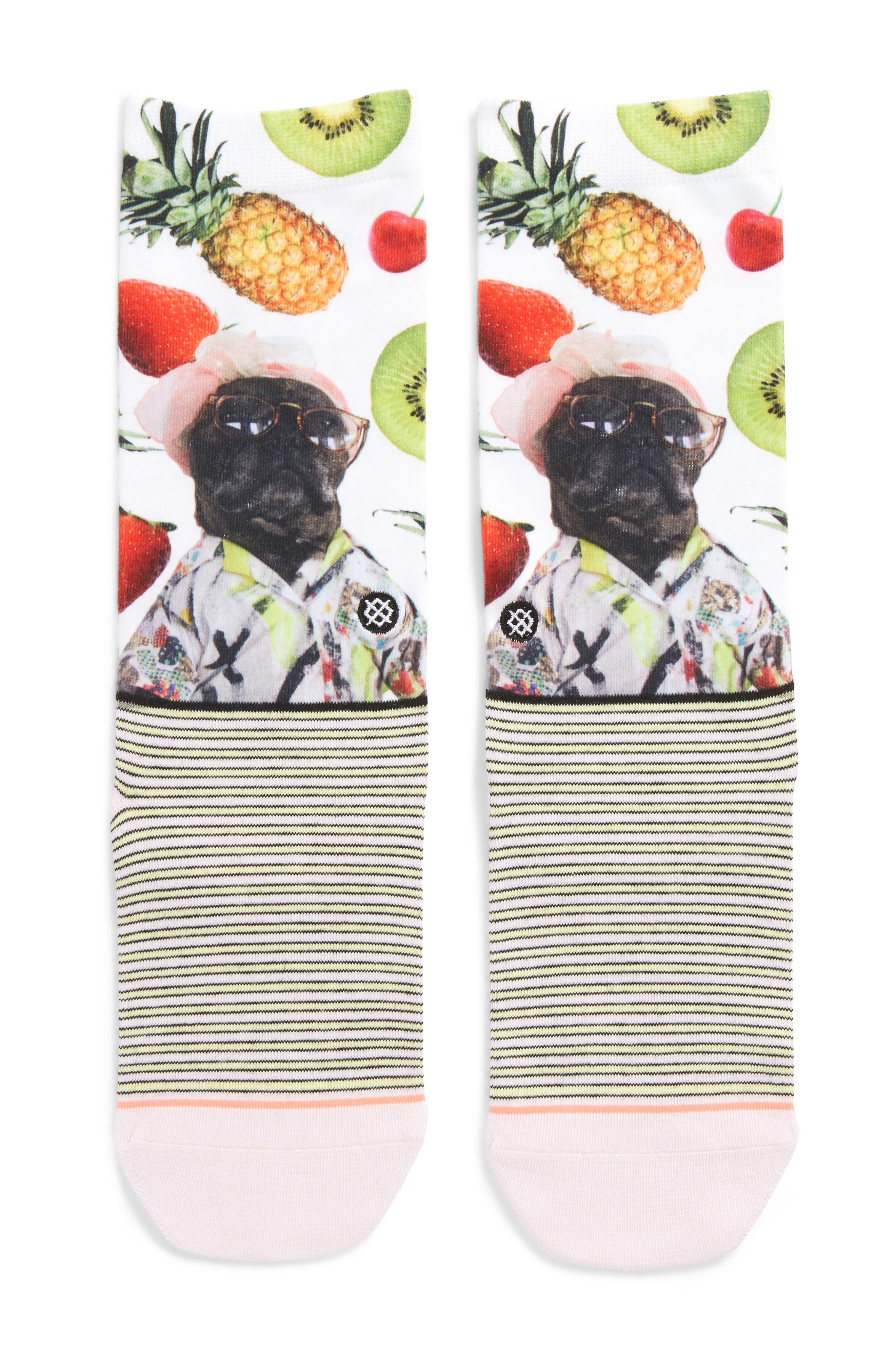 Kiwi Socks,                             Main thumbnail 1, color,                             Green
