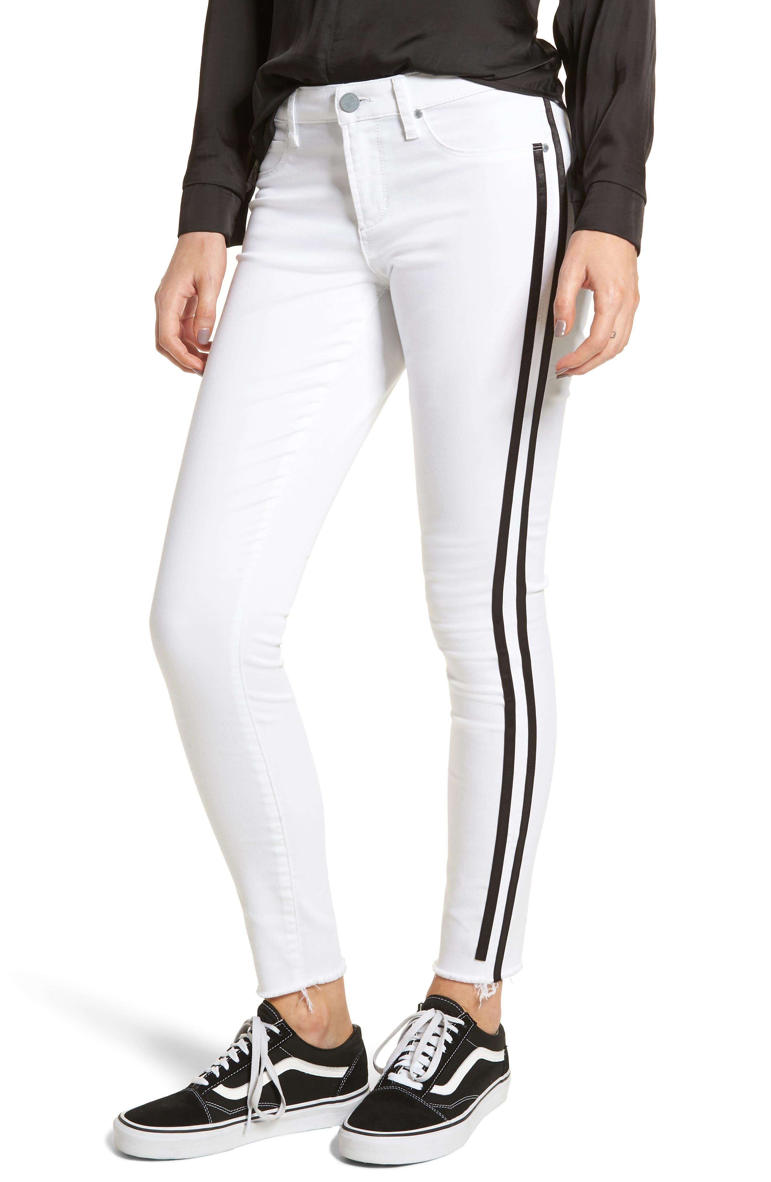 ARTICLES OF SOCIETY SARAH ACTIVE STRIPE SKINNY JEANS