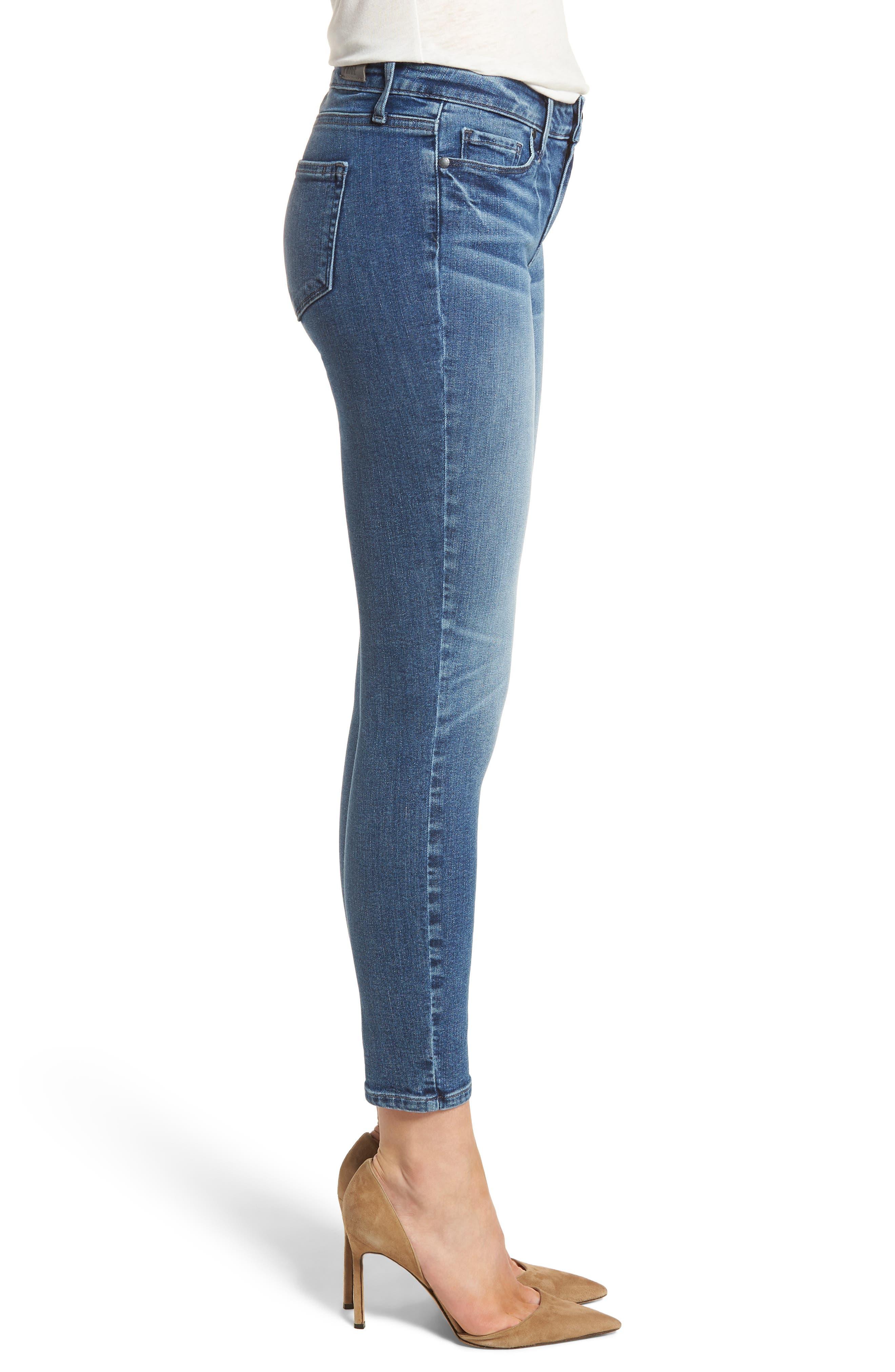 Transcend Vintage - Verdugo Crop Ultra Skinny Jeans,                             Alternate thumbnail 3, color,                             Bloomfield