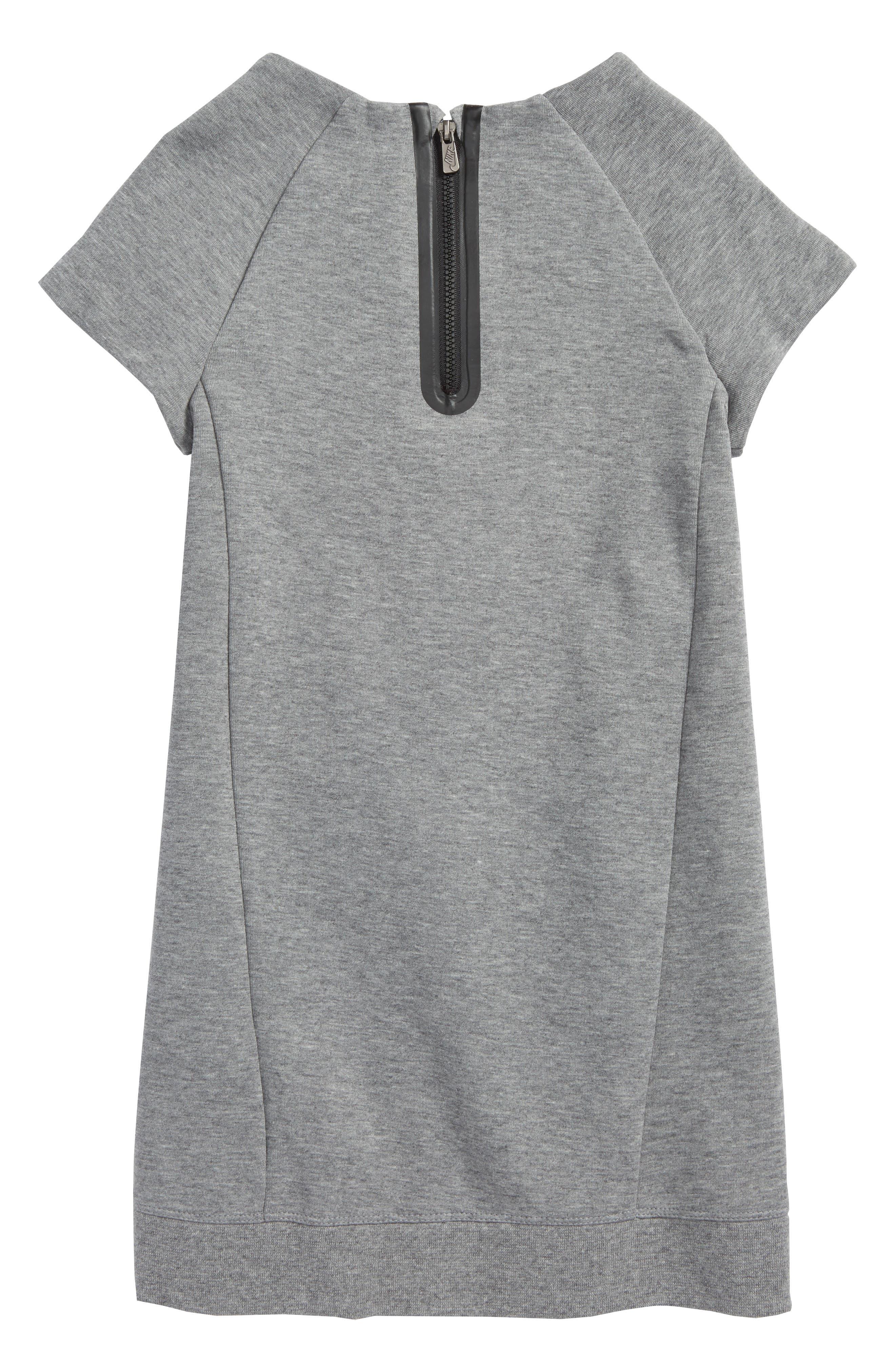 Tech Fleece Dress,                             Alternate thumbnail 2, color,                             Carbon Heather