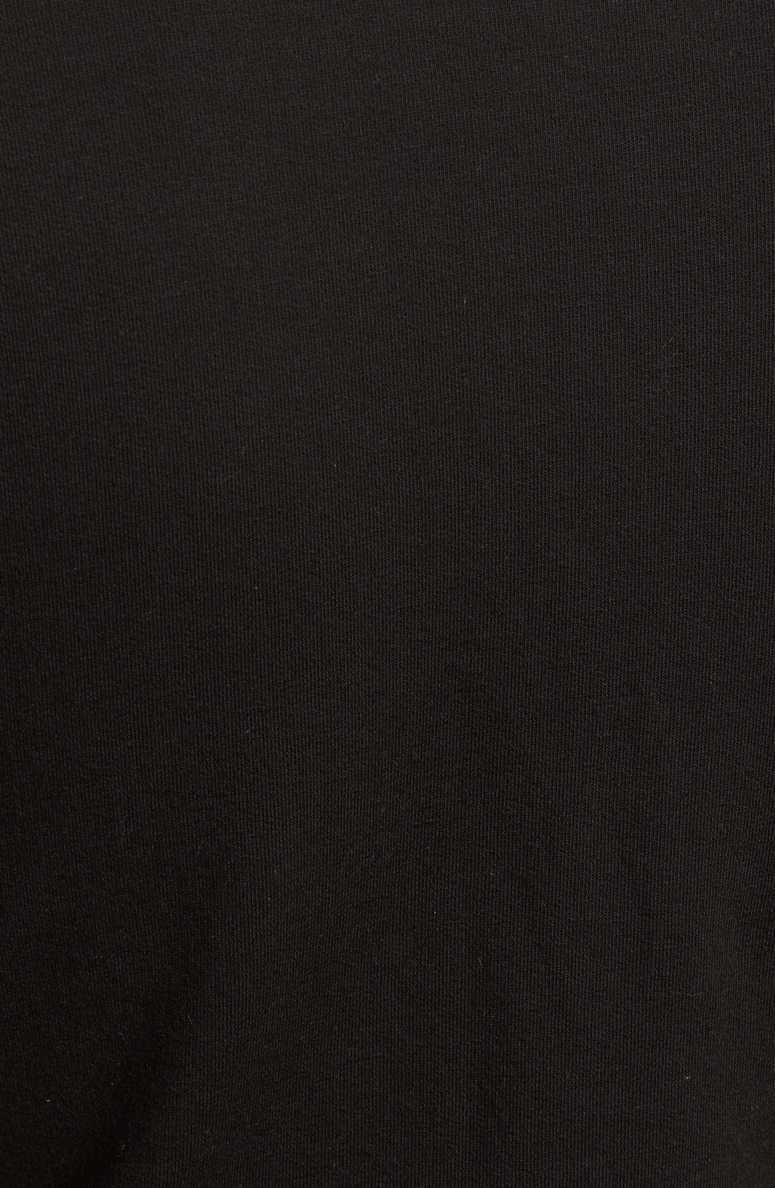 Off-Duty Tie Front Sweatshirt,                             Alternate thumbnail 6, color,                             Black