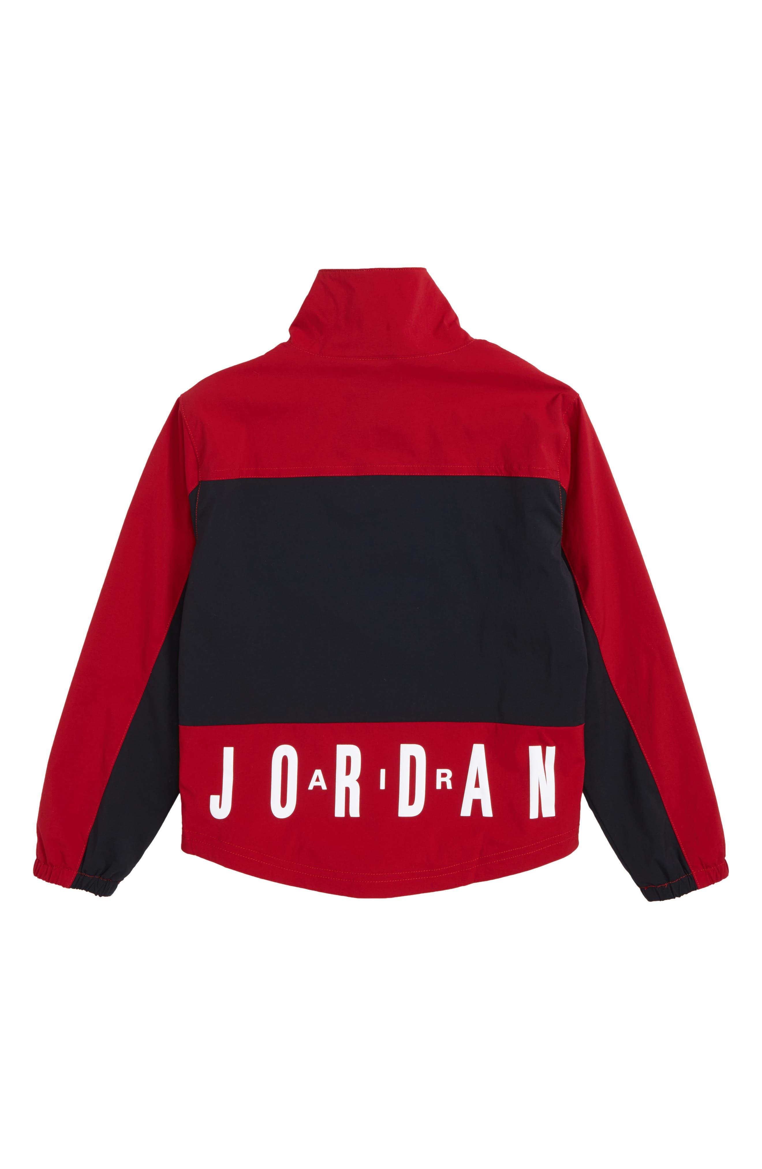 Jordan AJ '90s Popover Quarter Zip Pullover,                             Alternate thumbnail 2, color,                             Black