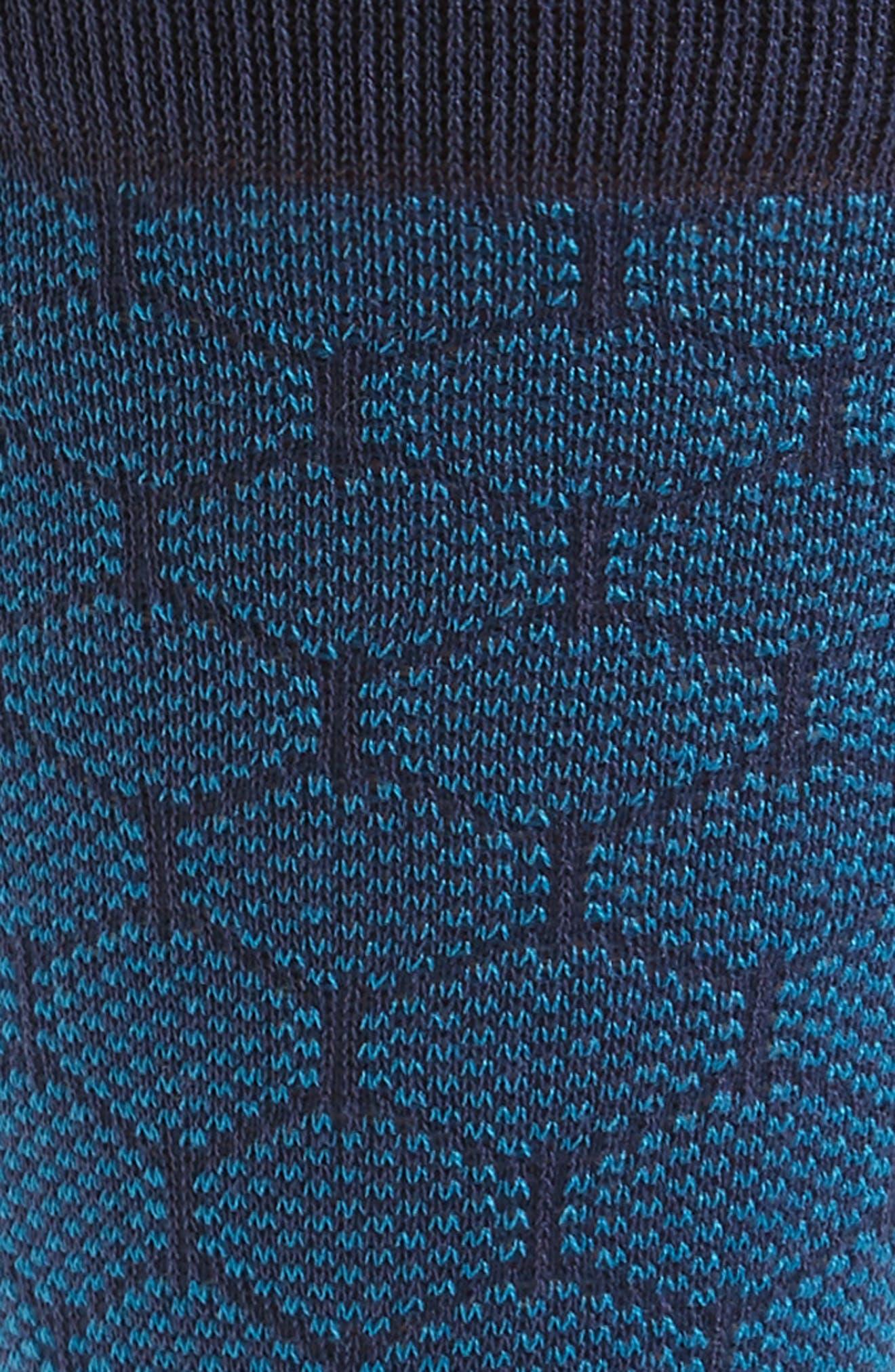 Mercerized Honeycomb Socks,                             Alternate thumbnail 2, color,                             Blue/ Navy