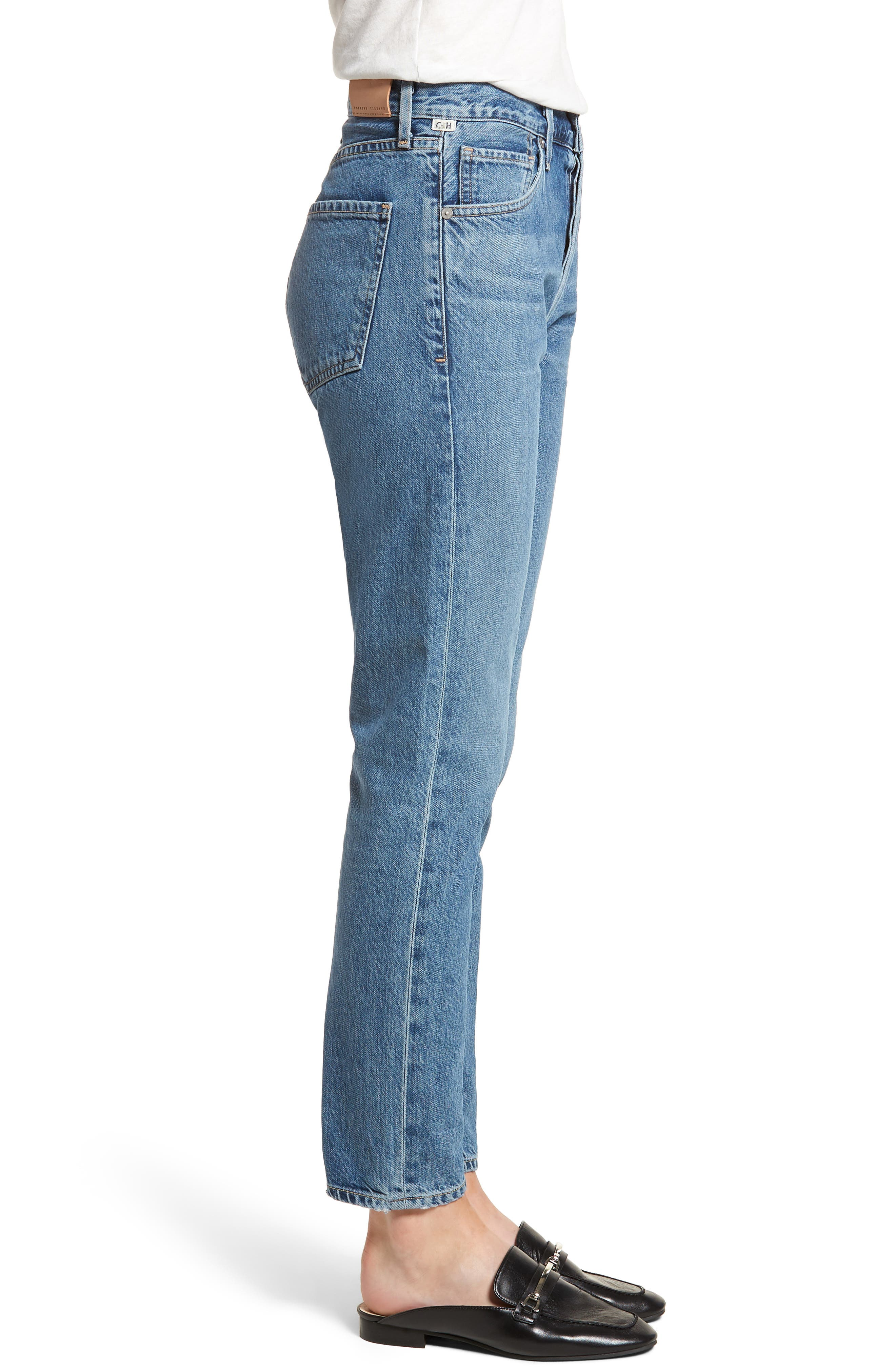 Liya High Waist Slim Boyfriend Jeans,                             Alternate thumbnail 3, color,                             Admire