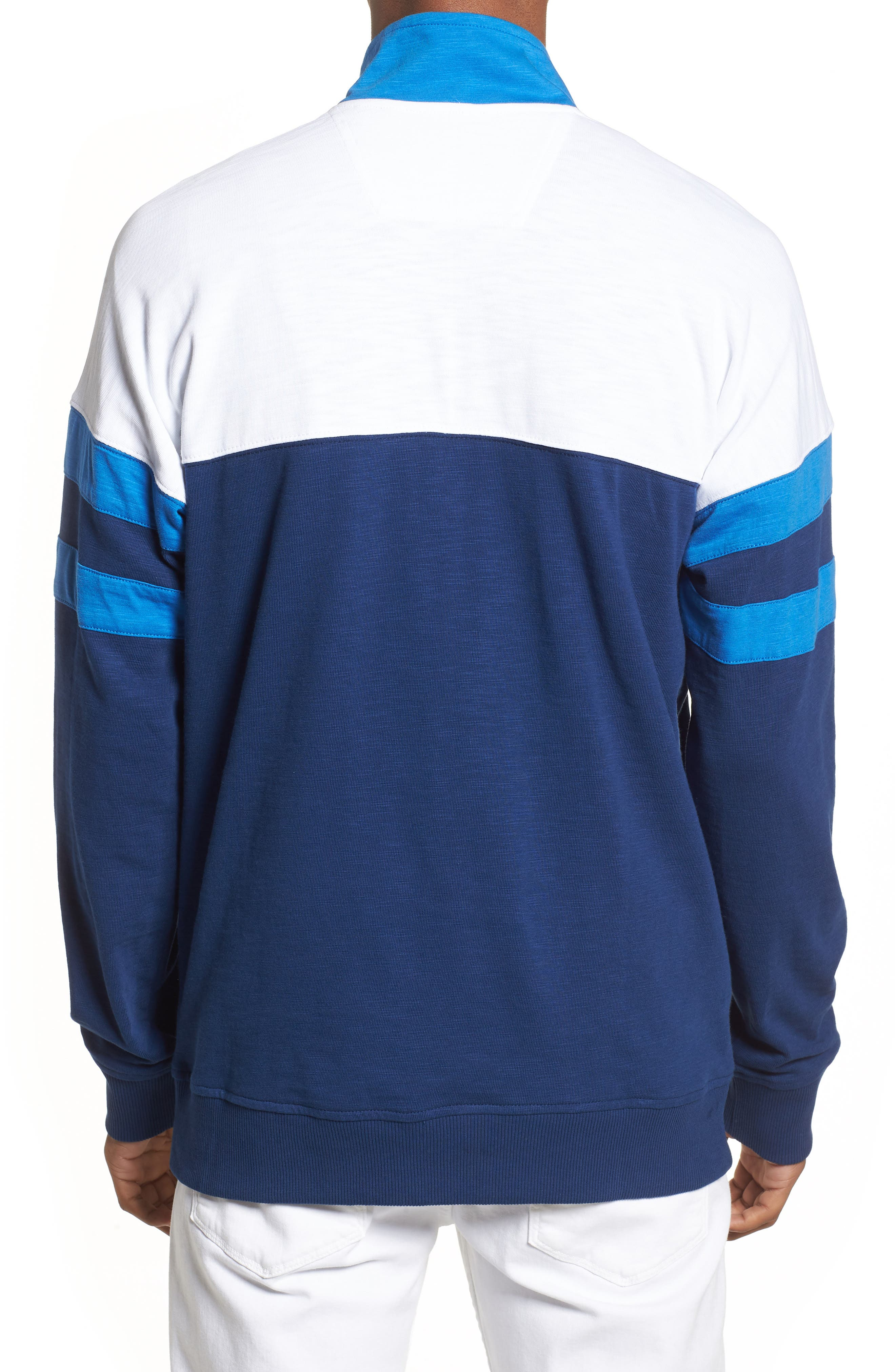 Quarter-Zip Rugby Shirt,                             Alternate thumbnail 2, color,                             Night Rider