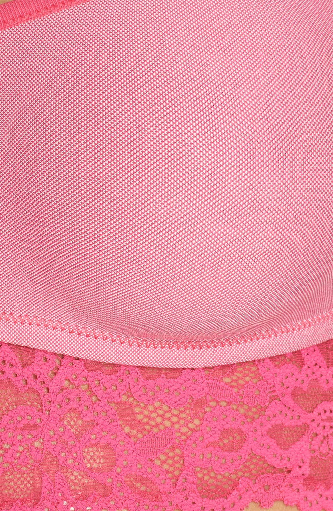 Bandeau Bra,                             Alternate thumbnail 9, color,                             Pink Peacock