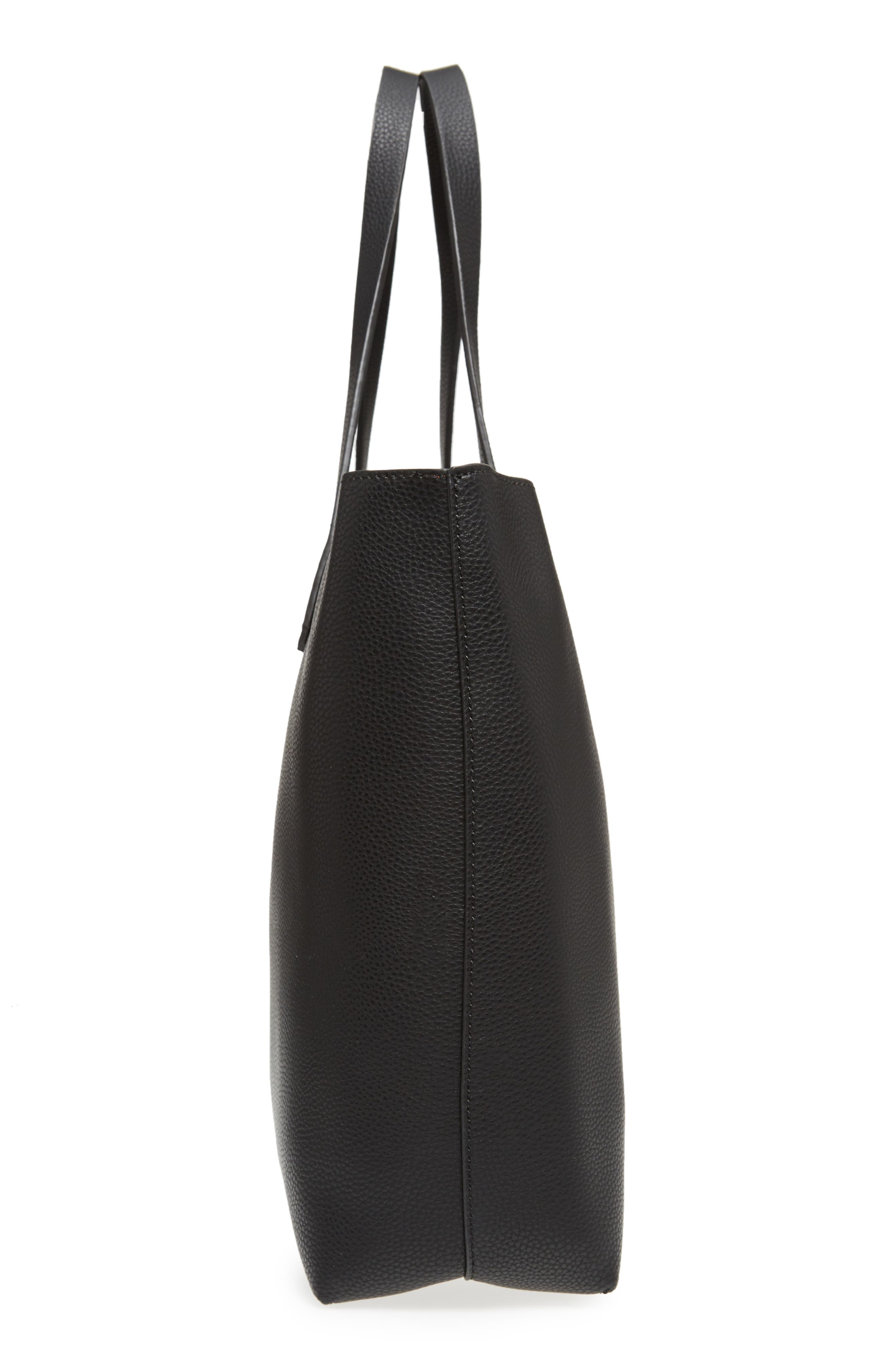 Alternate Image 5  - BP. Contrast Lining Faux Leather Tote