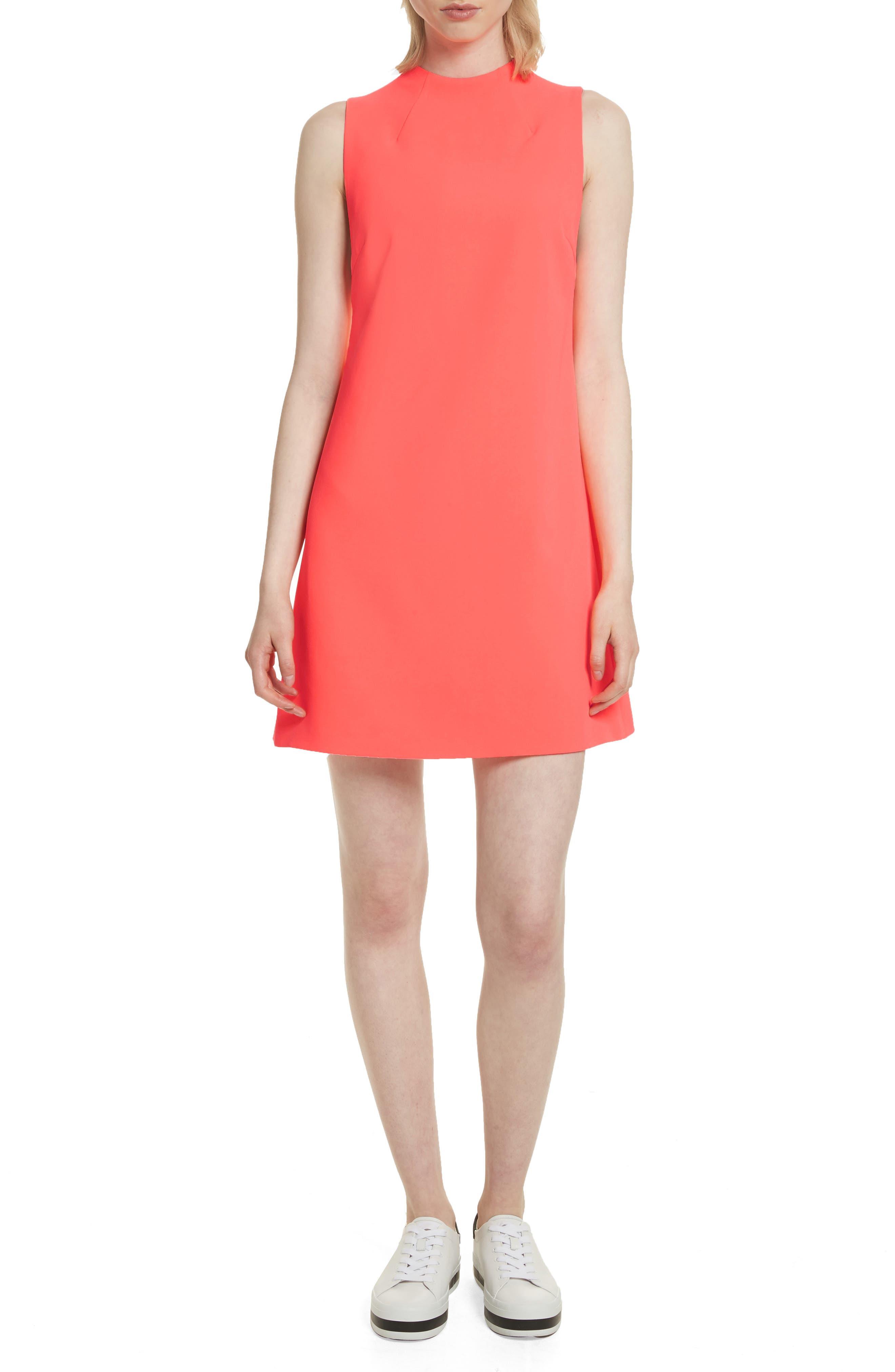 Coley A-Line Shift Dress,                             Main thumbnail 1, color,                             Neon Coral