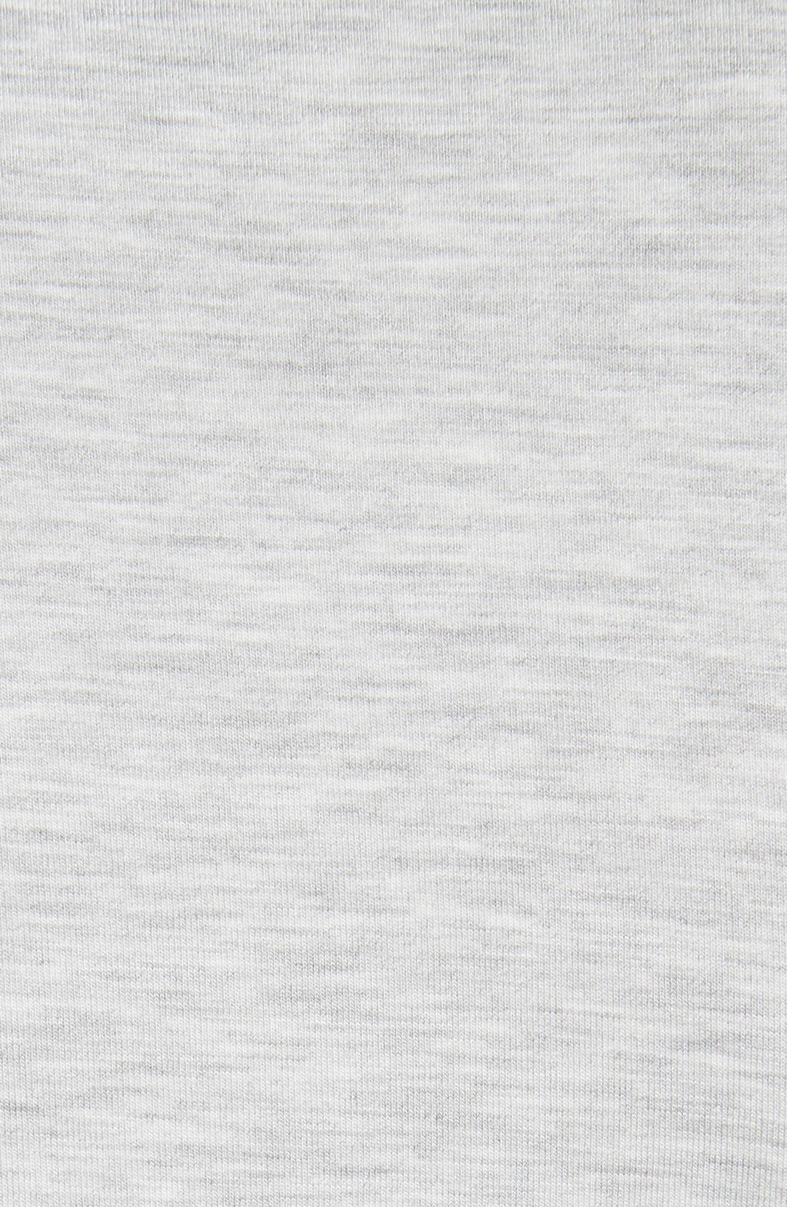 Flat Edge V-Neck Tee,                             Alternate thumbnail 5, color,                             Nacre Chine