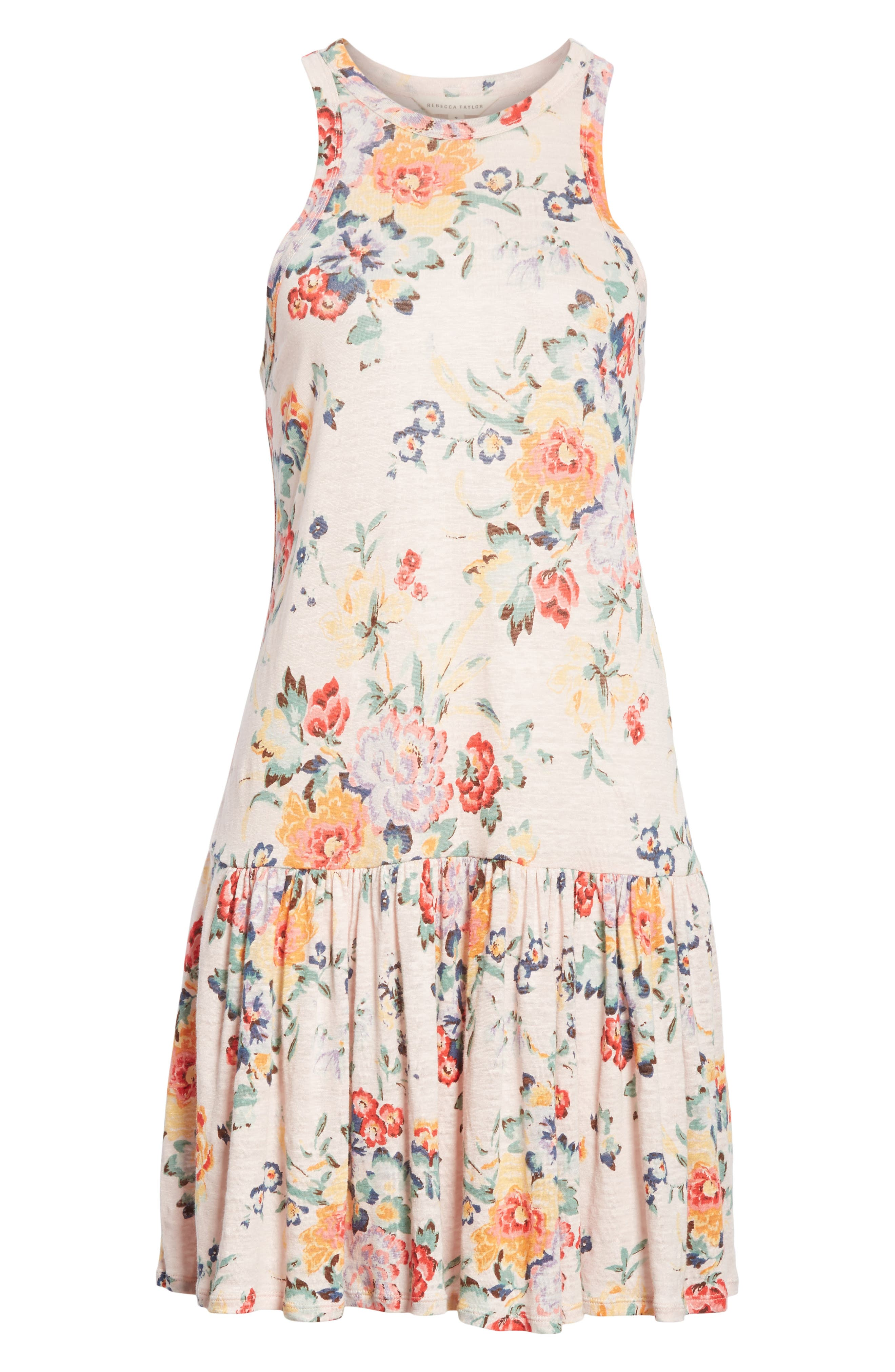 Marlena Floral Jersey Dress,                             Alternate thumbnail 6, color,                             Dusty Rose Combo