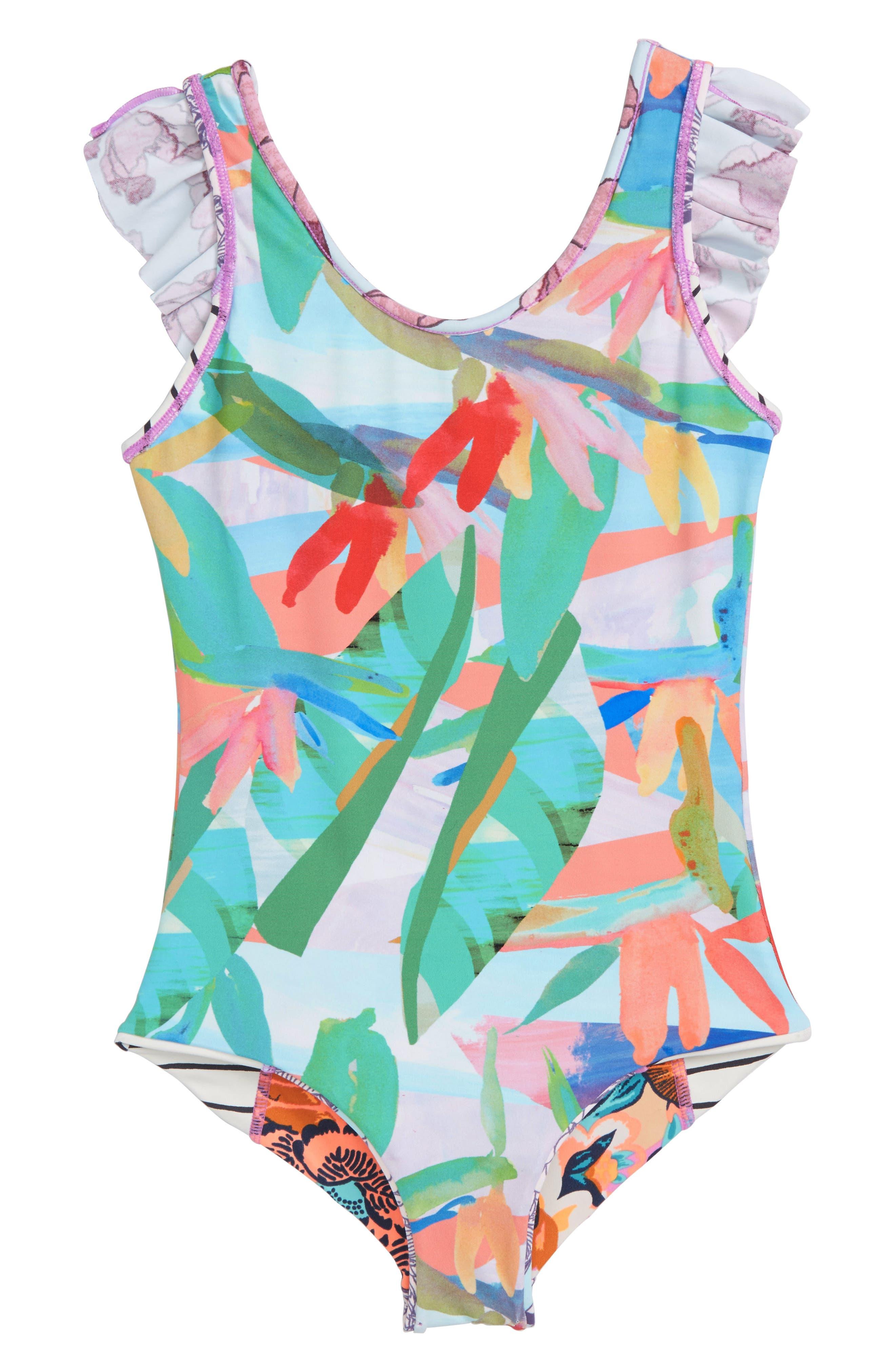 Heavenly Frills Reversible One-Piece Swimsuit,                             Alternate thumbnail 2, color,                             Multicolor