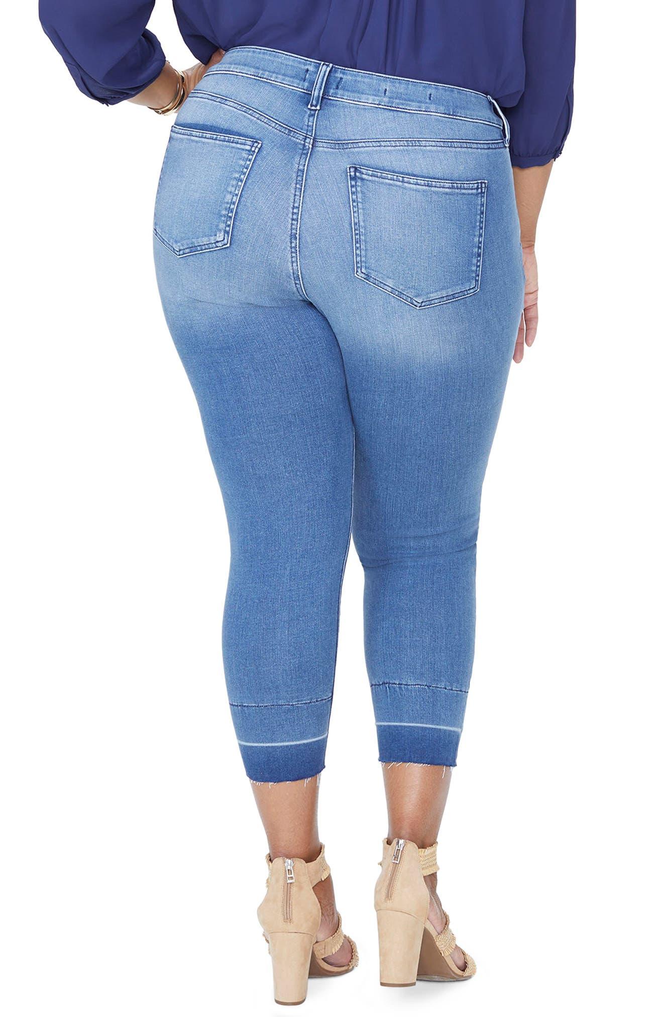 Alina Release Hem Ankle Skinny Jeans,                             Alternate thumbnail 2, color,                             Wishful