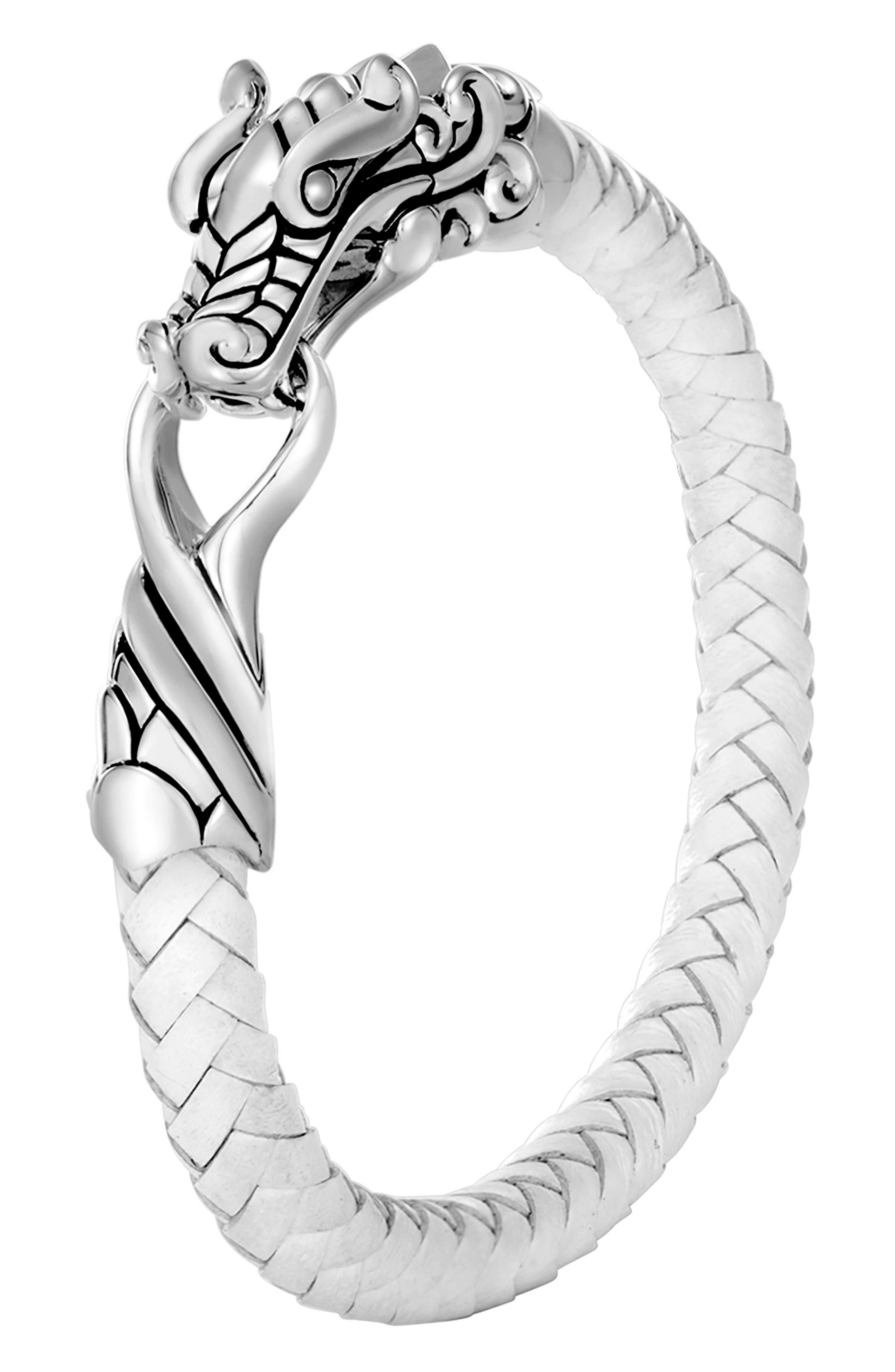 John Hardy Legends Naga Braided Leather Bracelet