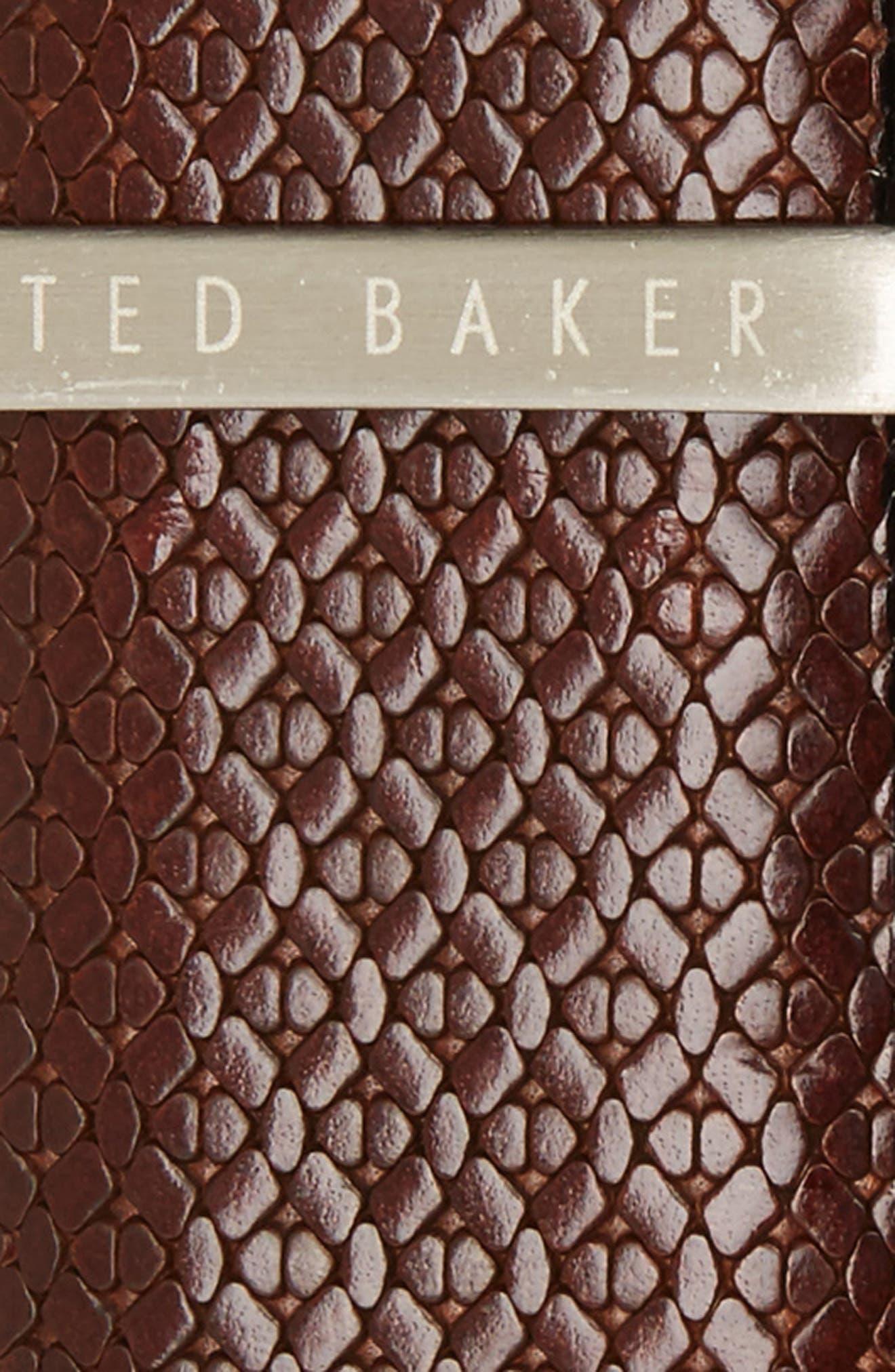 Reversible Leather Belt,                             Alternate thumbnail 3, color,                             Chocolate