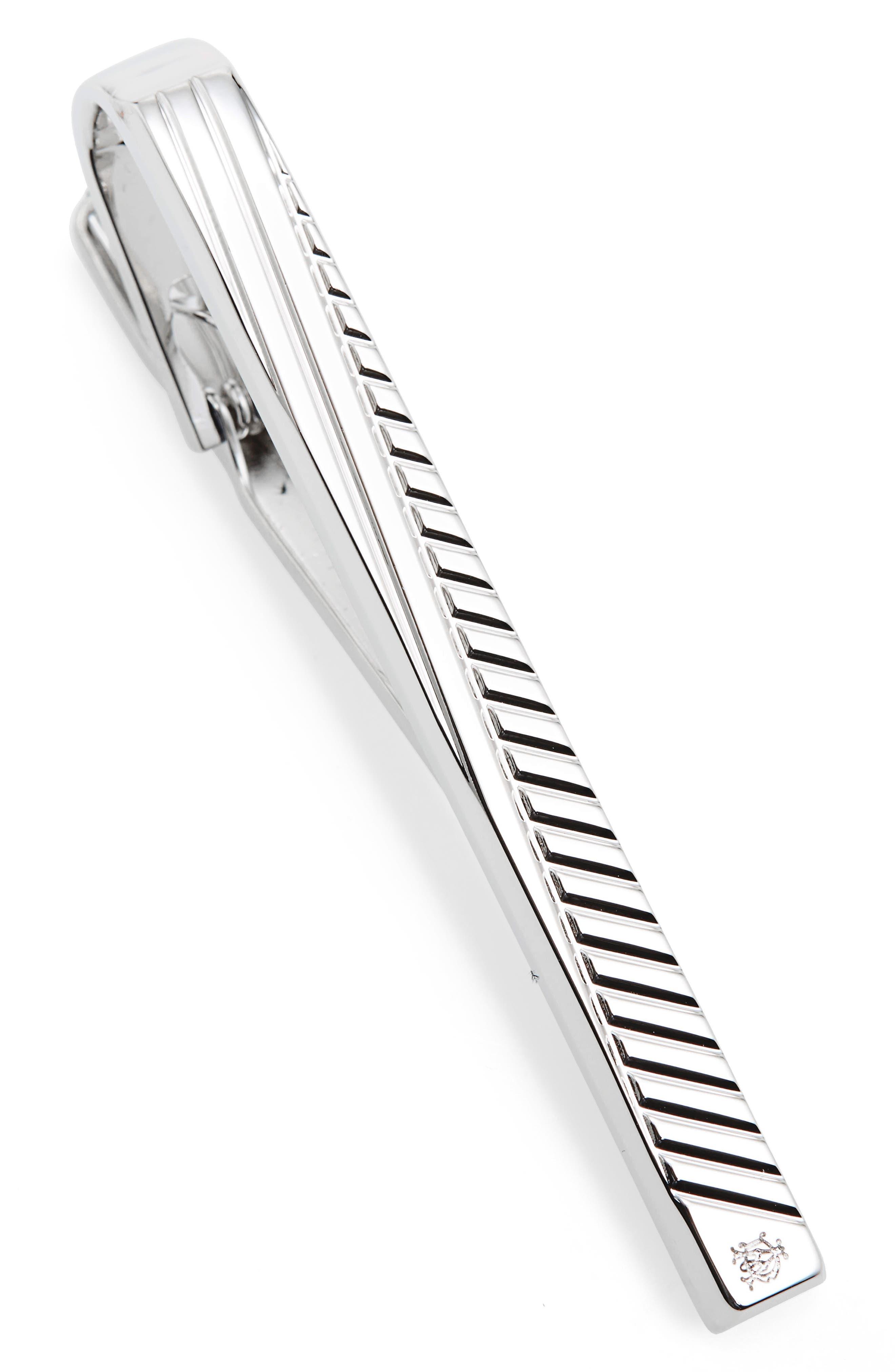 Facet Diagonal Tie Bar,                         Main,                         color, Silver