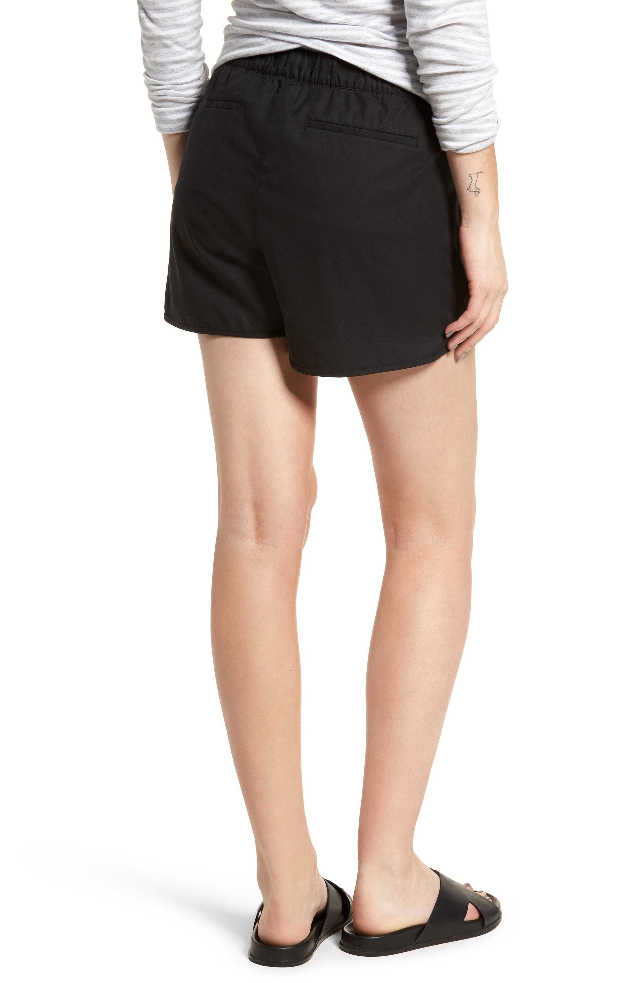 Pull-On Shorts,                             Alternate thumbnail 2, color,                             Almost Black