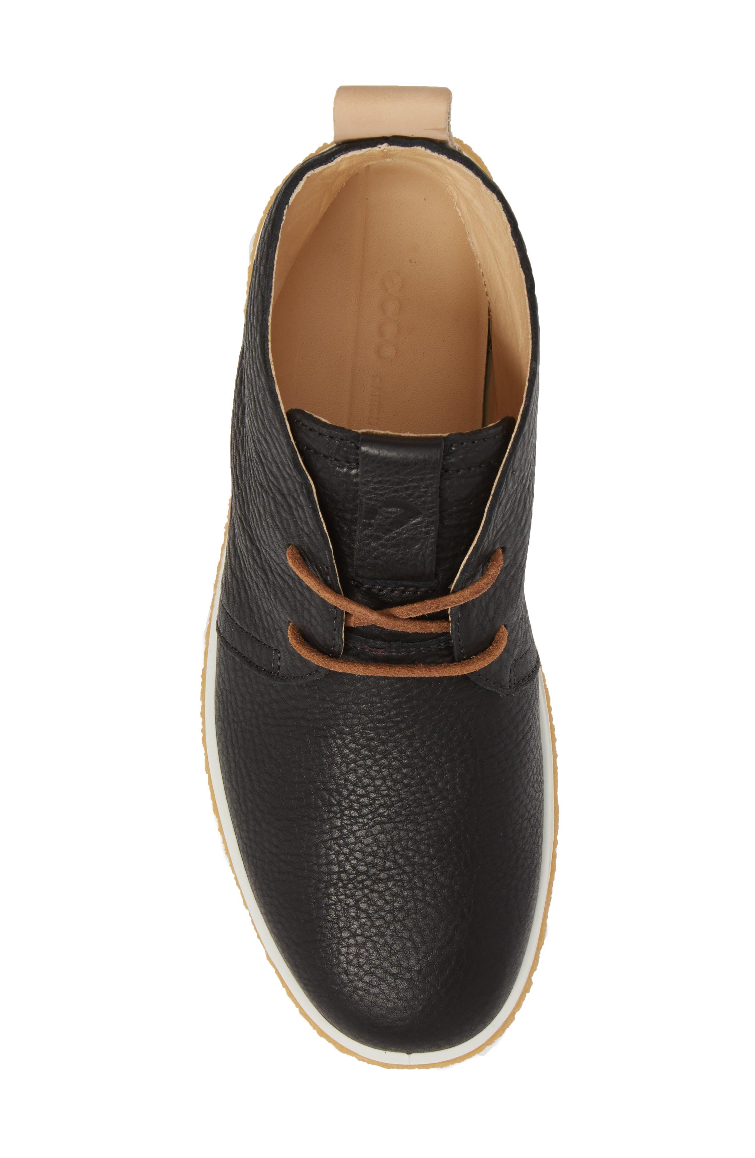 Crepetray Chukka Boot,                             Alternate thumbnail 5, color,                             Black Powder Leather