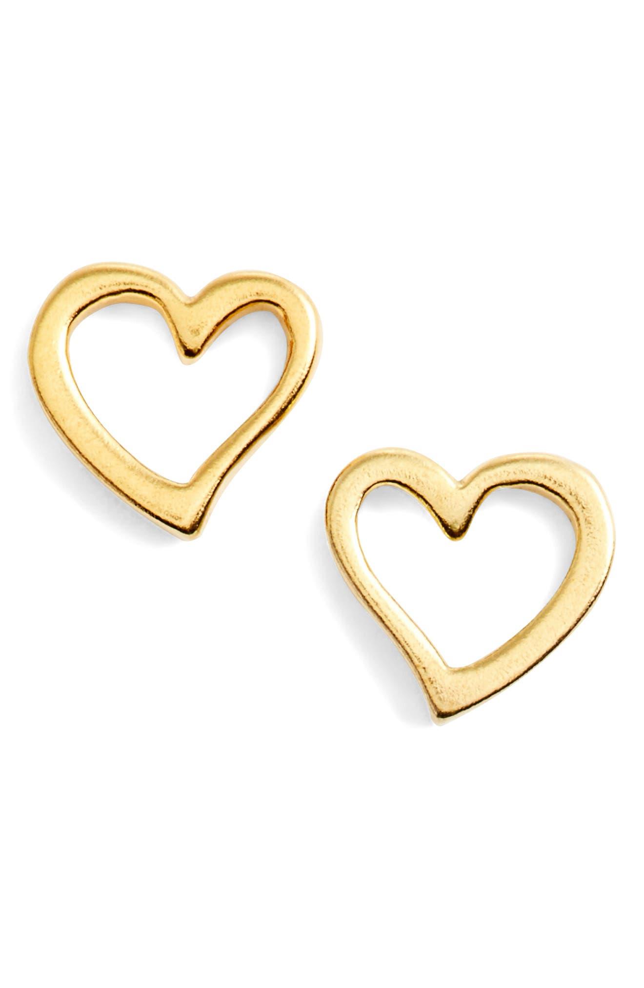 Alex and Ani Heart Earrings