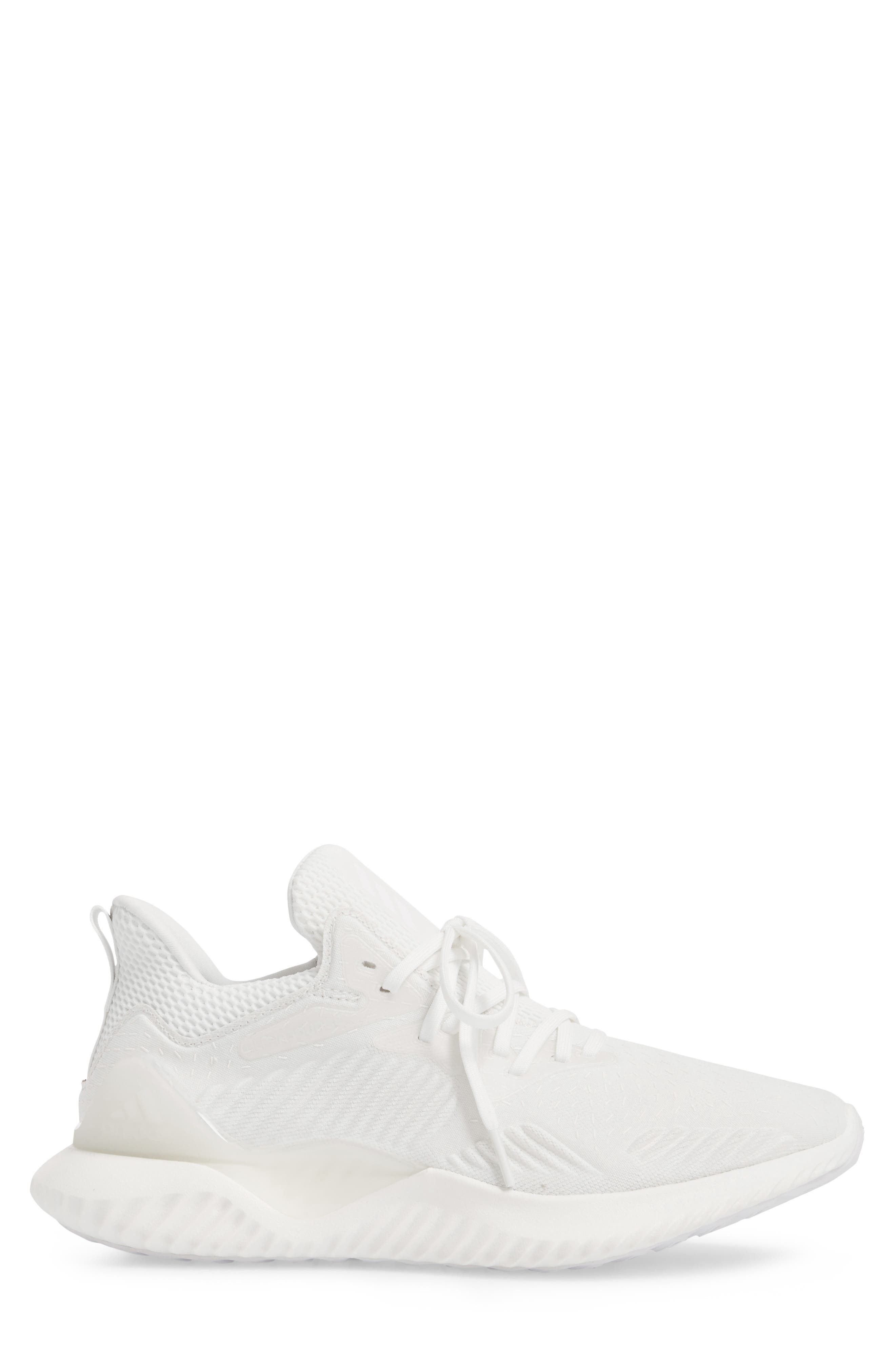 AlphaBounce Beyond Knit Running Shoe,                             Alternate thumbnail 3, color,                             Core Black/ Non-Dyed/ White