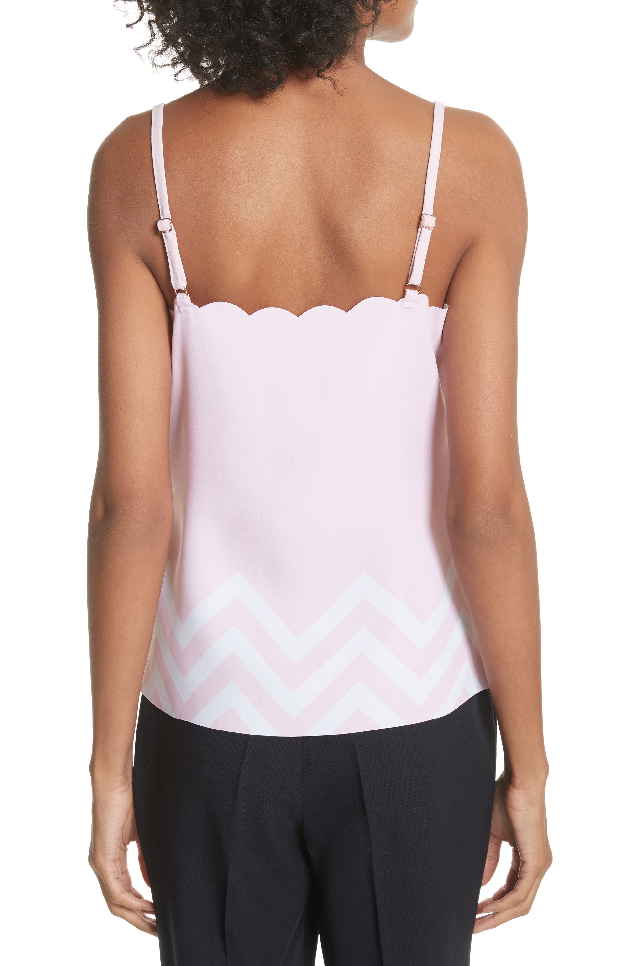 Palace Gardens Scalloped Camisole,                             Alternate thumbnail 2, color,                             Pale Pink