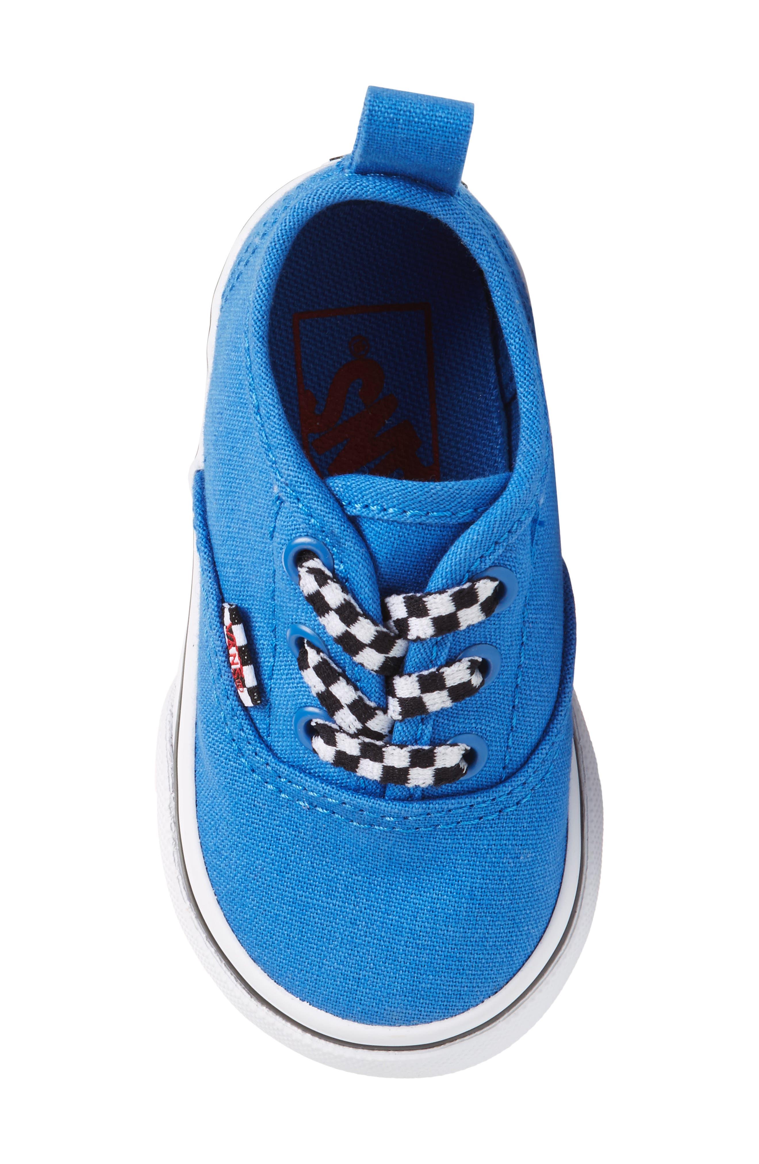 Authentic Sneaker,                             Alternate thumbnail 5, color,                             Blue/ White Check Lace