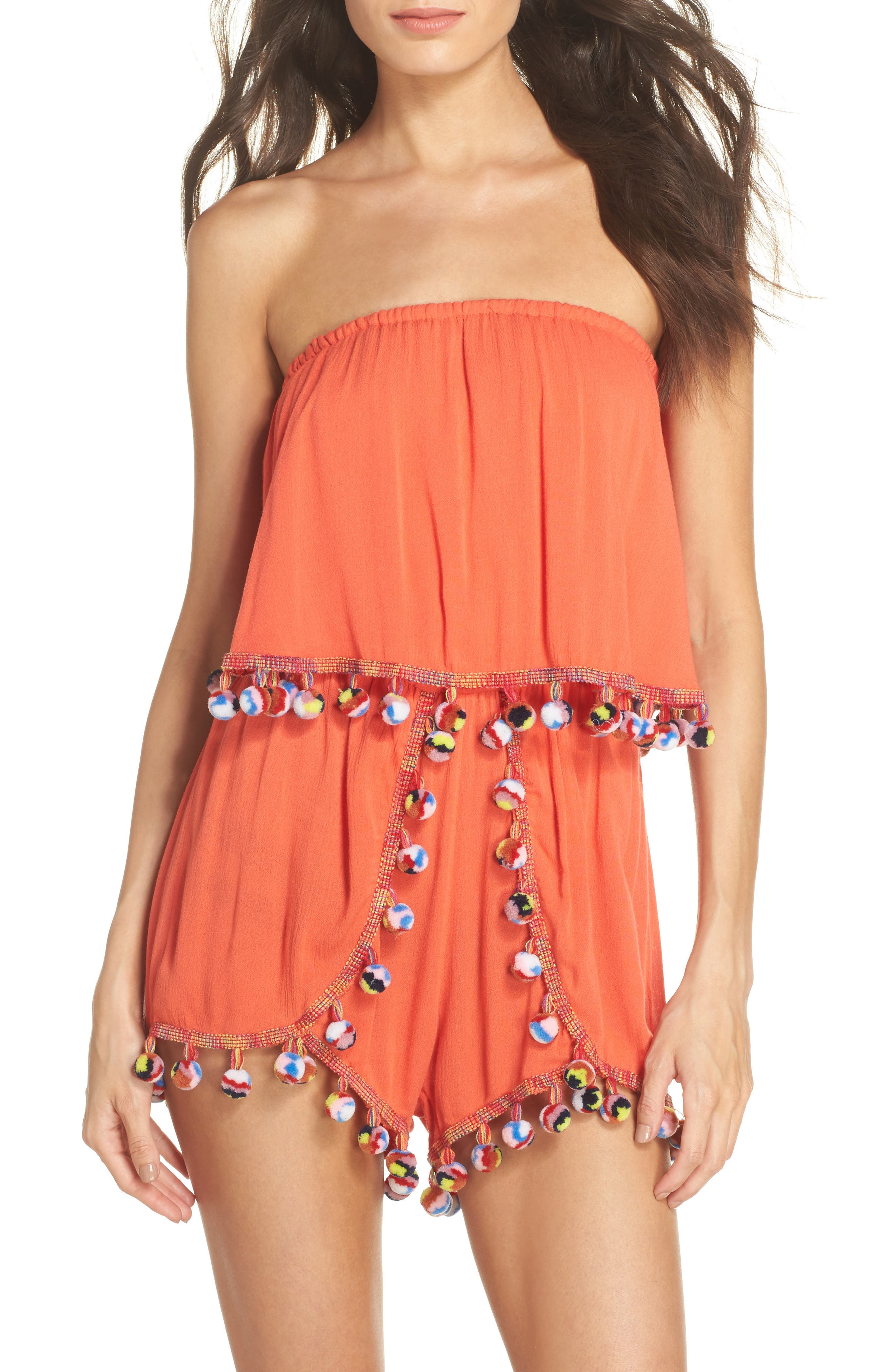 Alternate Image 1 Selected - Surf Gypsy Red Fruit Punch Cover-Up Romper