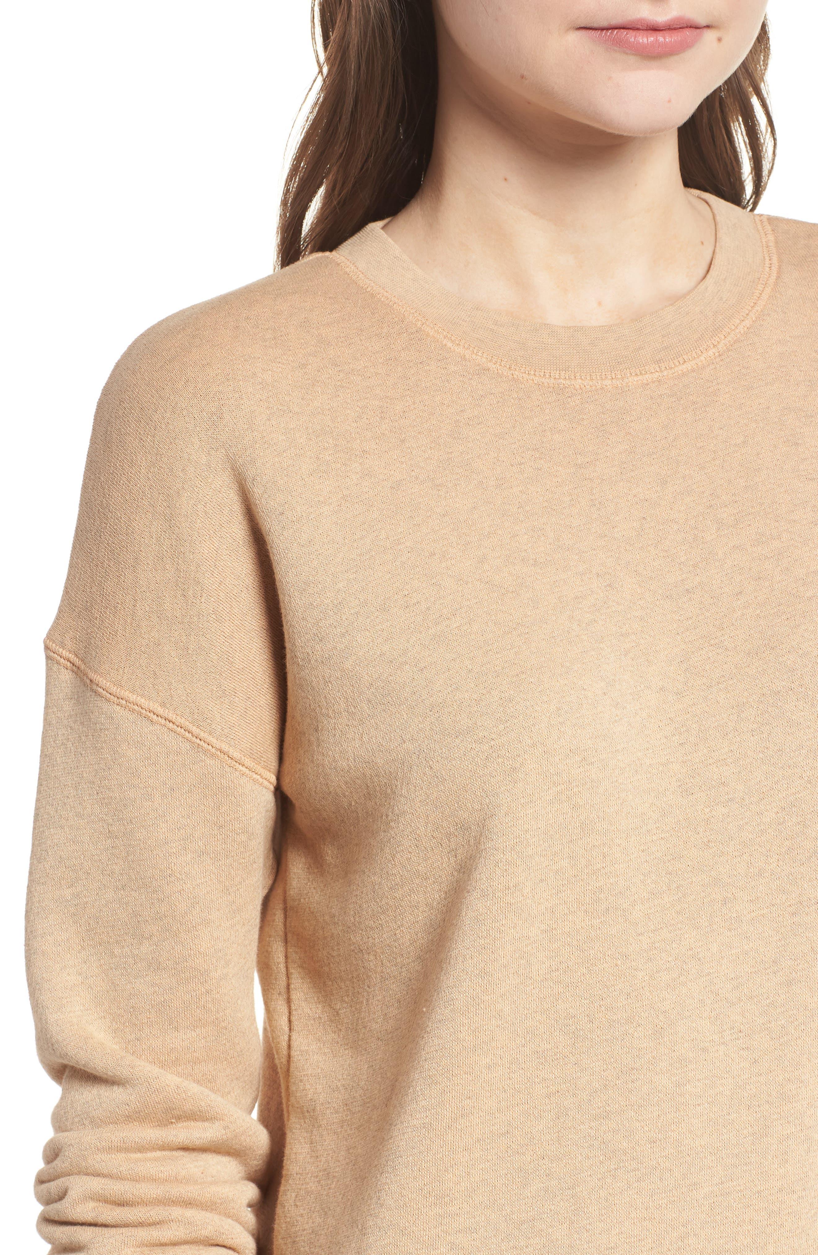 Mainstay Sweatshirt,                             Alternate thumbnail 4, color,                             Hthr Dune