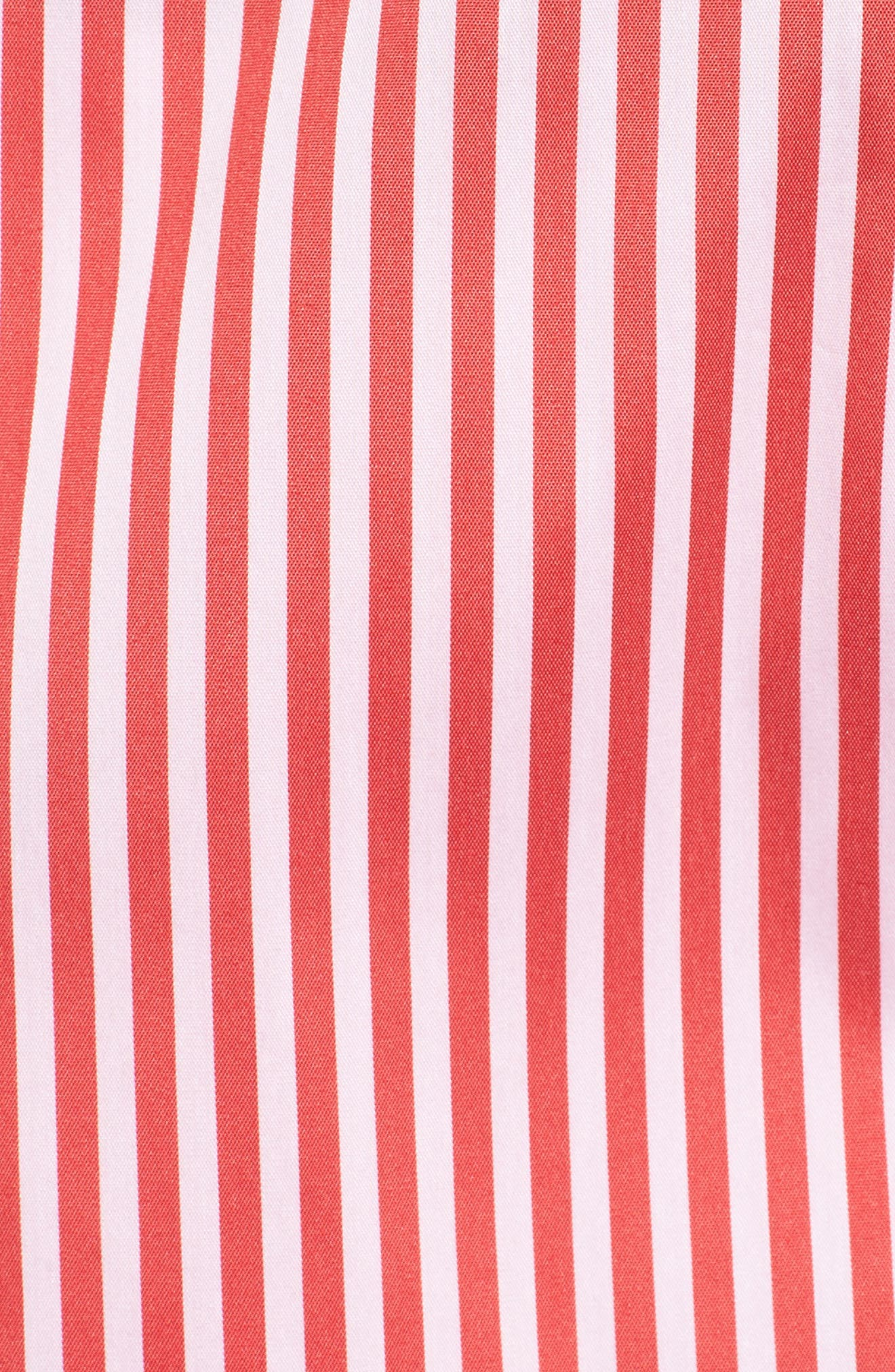 Stripe Smocked Corset Shirt,                             Alternate thumbnail 6, color,                             Red/ White Lucy Stripe